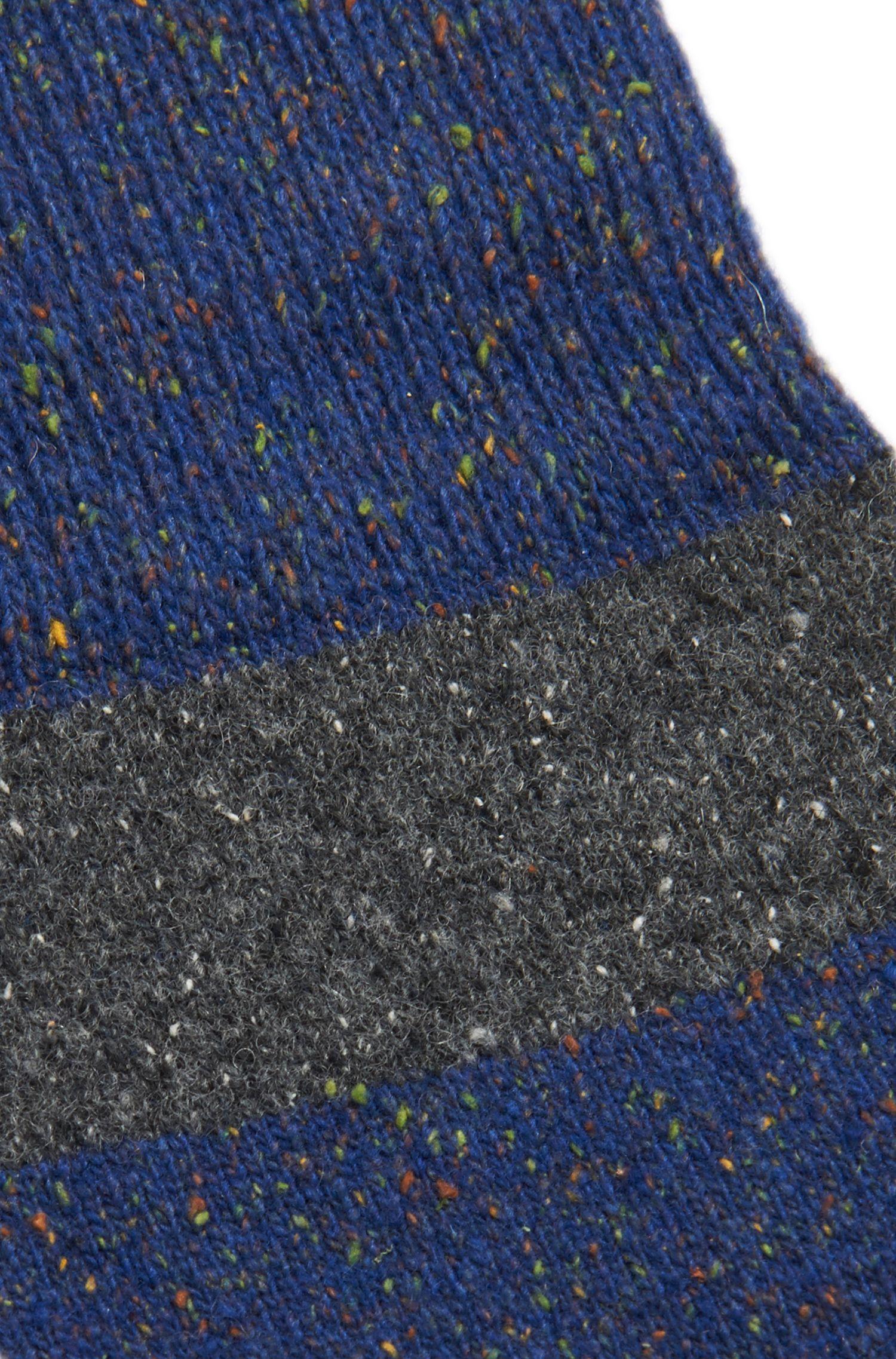 Chaussettes à rayures en laine mélangée à teneur en soie: «RS Design»