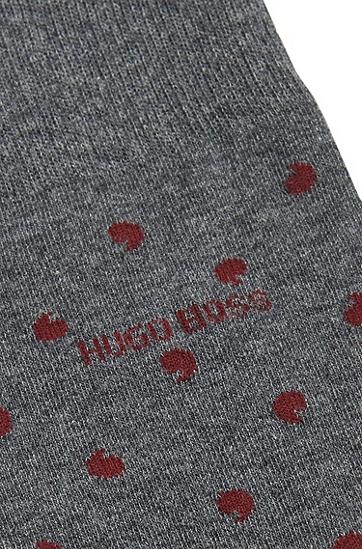 Gepunktete Socken aus Baumwoll-Mix: 'RS Design', Grau