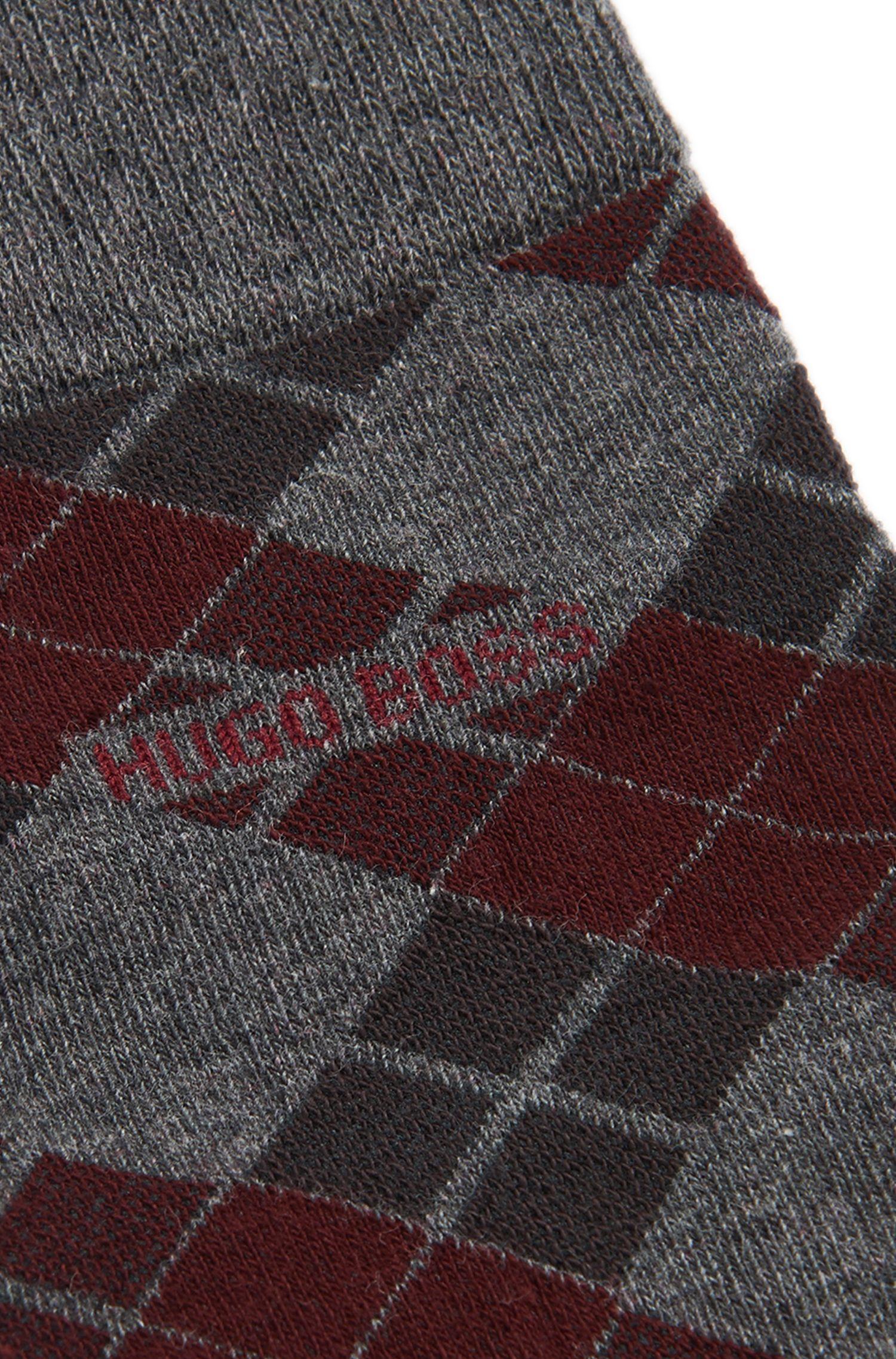 Socken aus elastischem Baumwoll-Mix mit Argyle-Muster: 'RS Design'