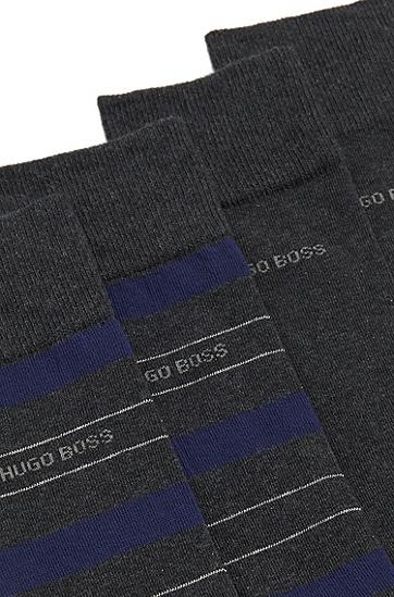 Socken aus elastischem Baumwoll-Mix im Zweier-Pack: 'Twopack RS Design', Anthrazit