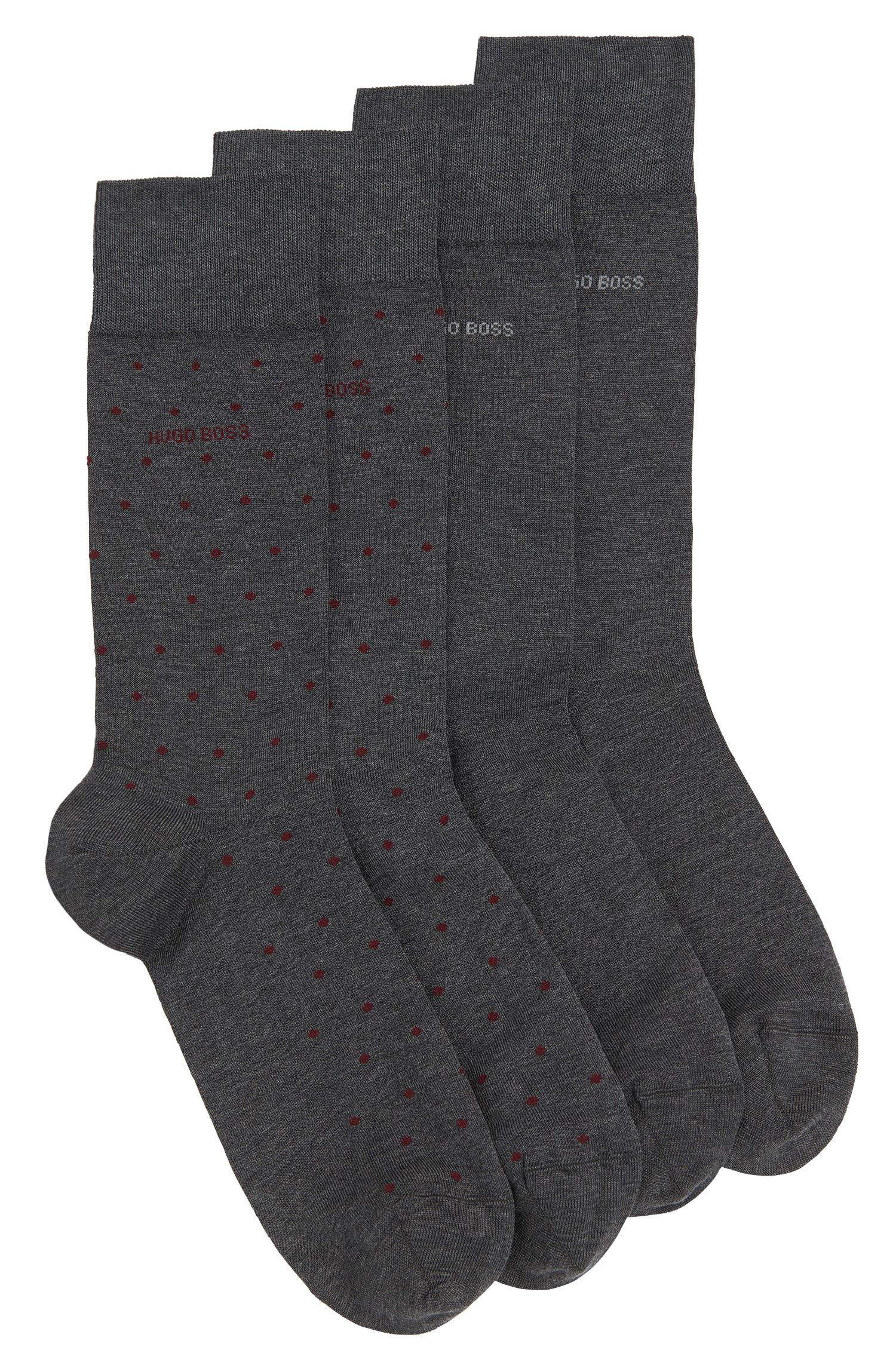Polka-dot pattern socks in cotton blend in a double pack: 'Twopack RS Design'