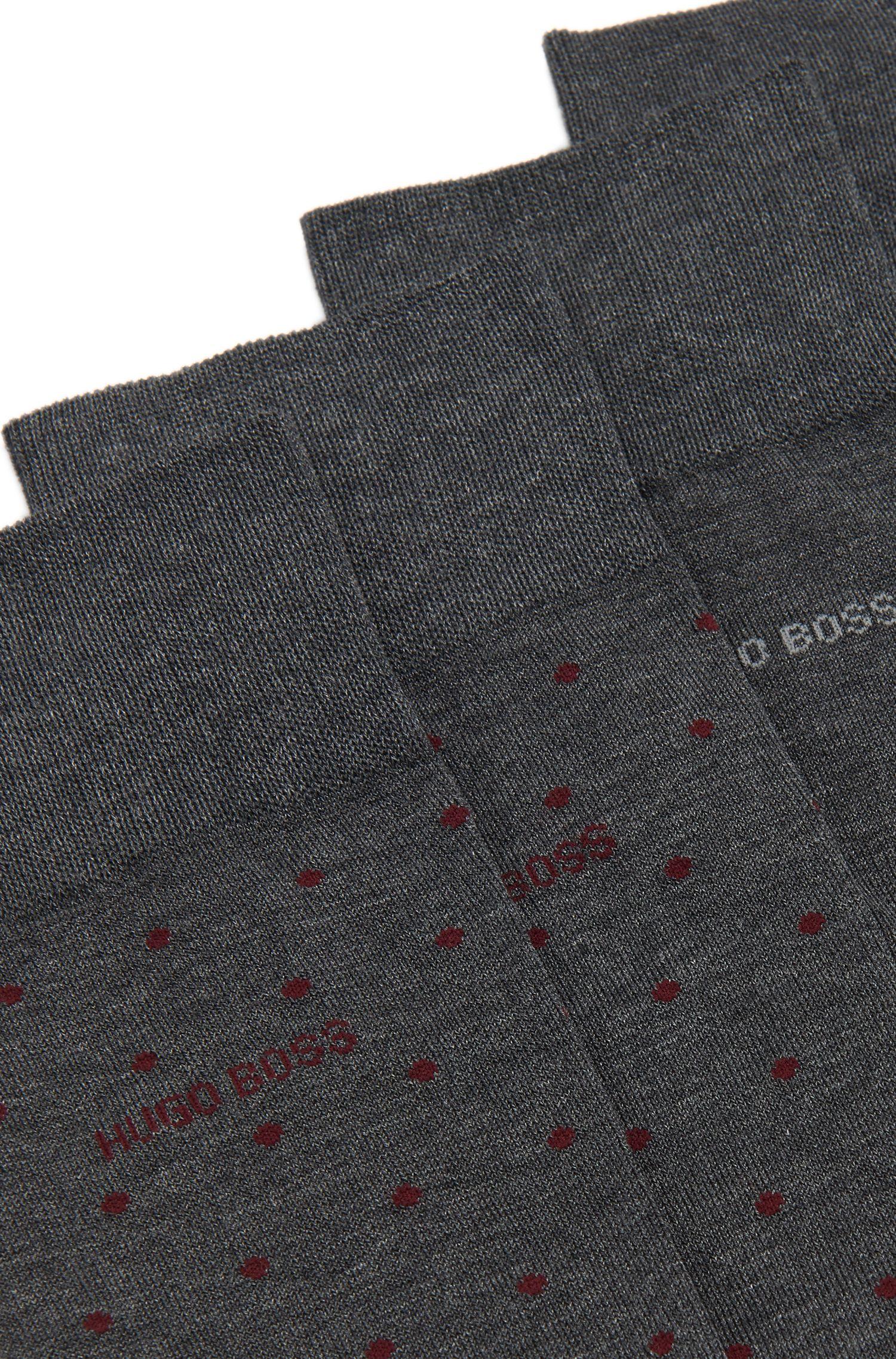Gepunktete Socken aus Baumwoll-Mix im Zweier-Pack: 'Twopack RS Design'