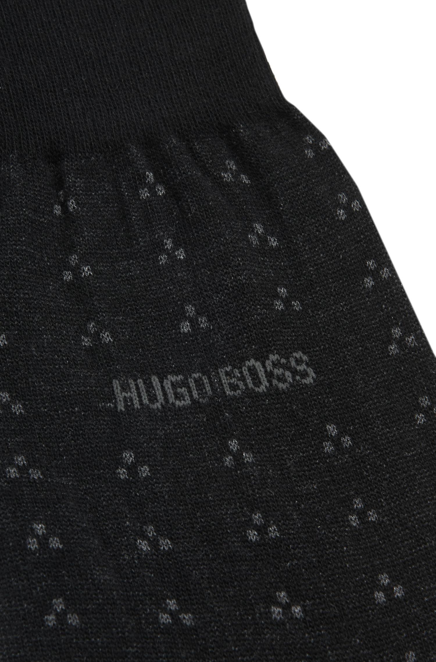 Gemusterte Socken aus Baumwoll-Mix mit Kaschmir und Seide: 'RS Design'
