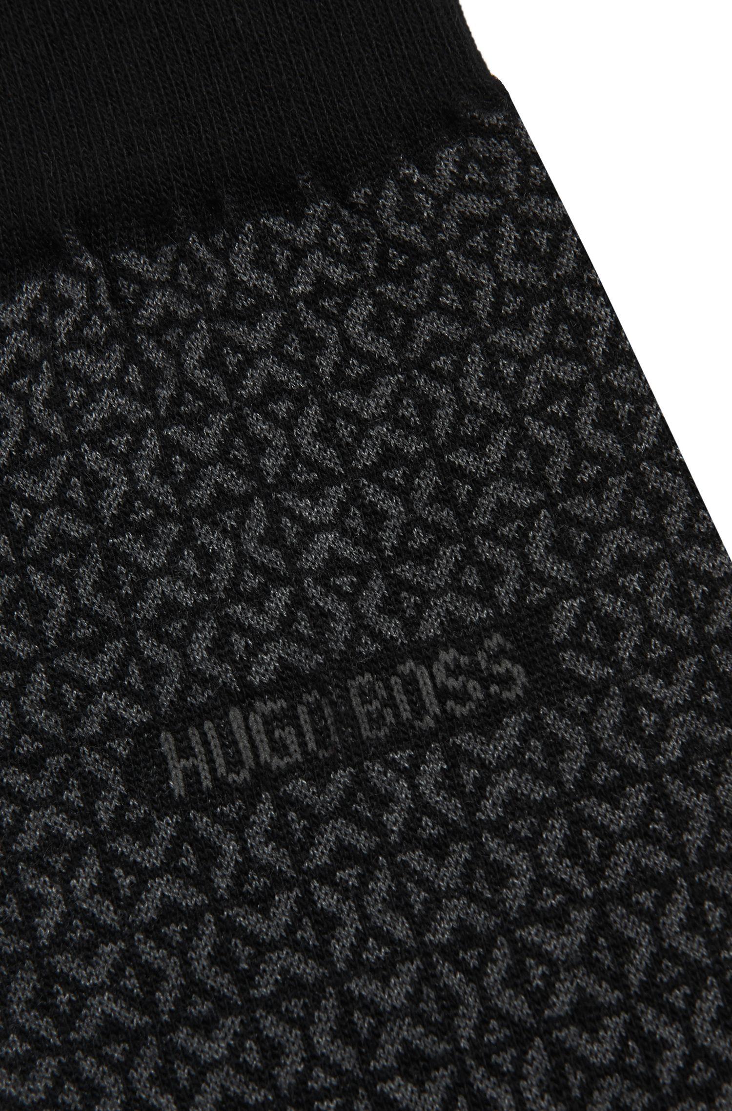 Chaussettes à motif, en coton mélangé à du cachemire et de la soie: «RS Design»