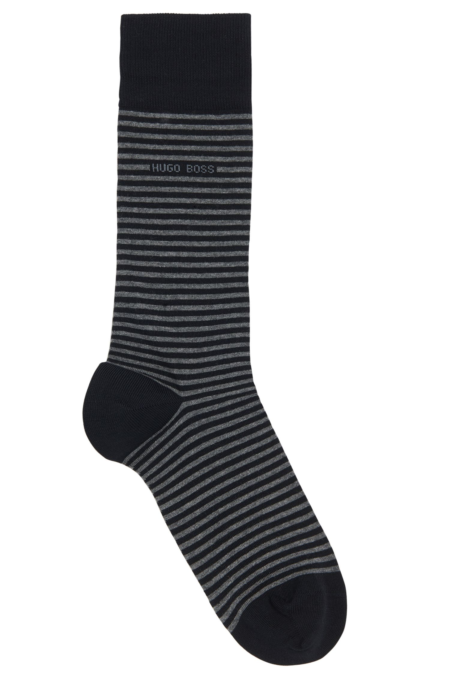 Striped socks in stretchy cotton: 'Marc Design'