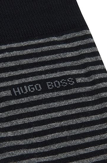 Gestreifte Socken aus elastischer Baumwolle: 'Marc Design', Dunkelblau