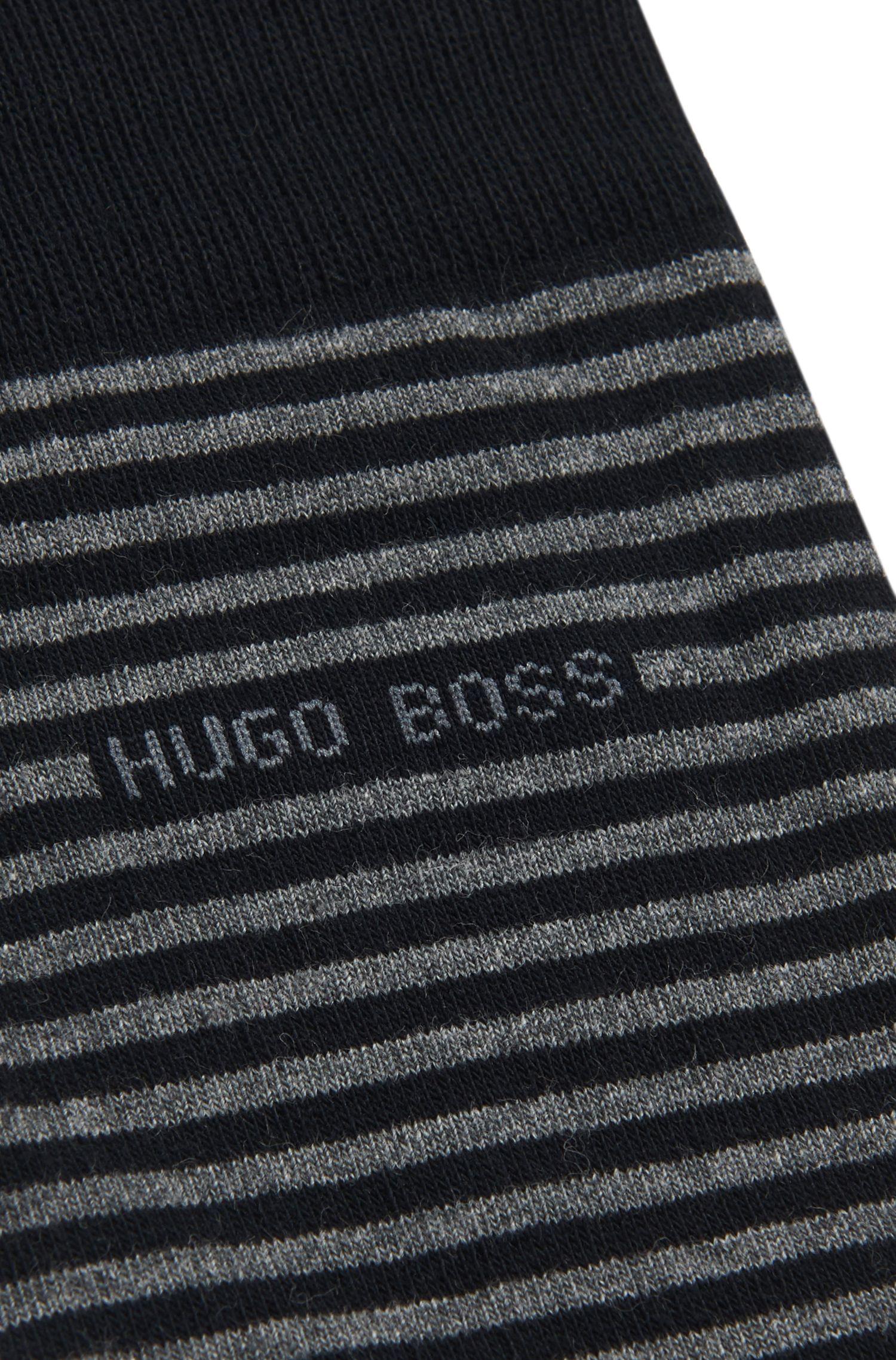 Gestreifte Socken aus elastischer Baumwolle: 'Marc Design'