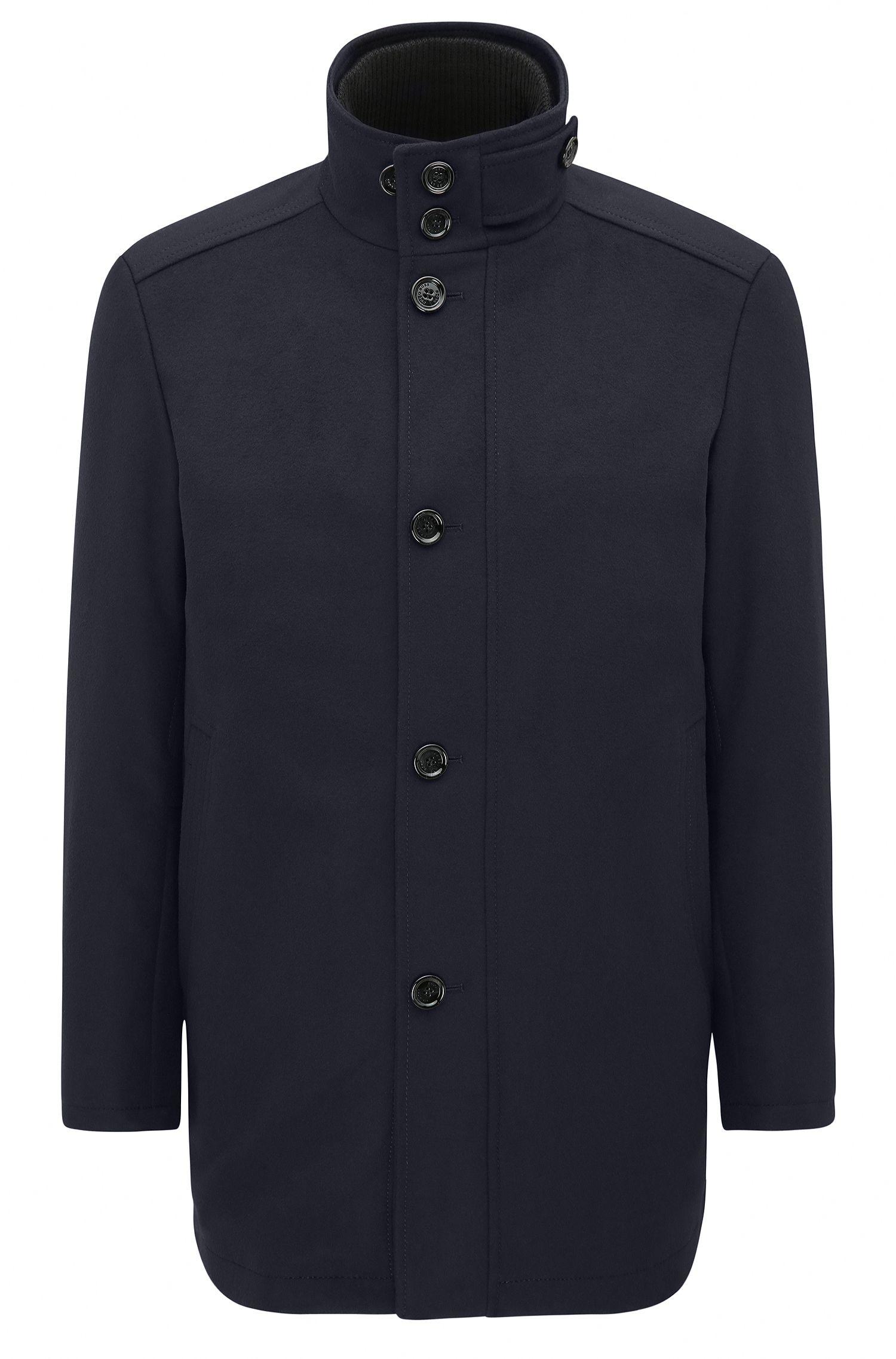 Manteau court en laine vierge mélangée à du cachemire: «C-Coxtan5»