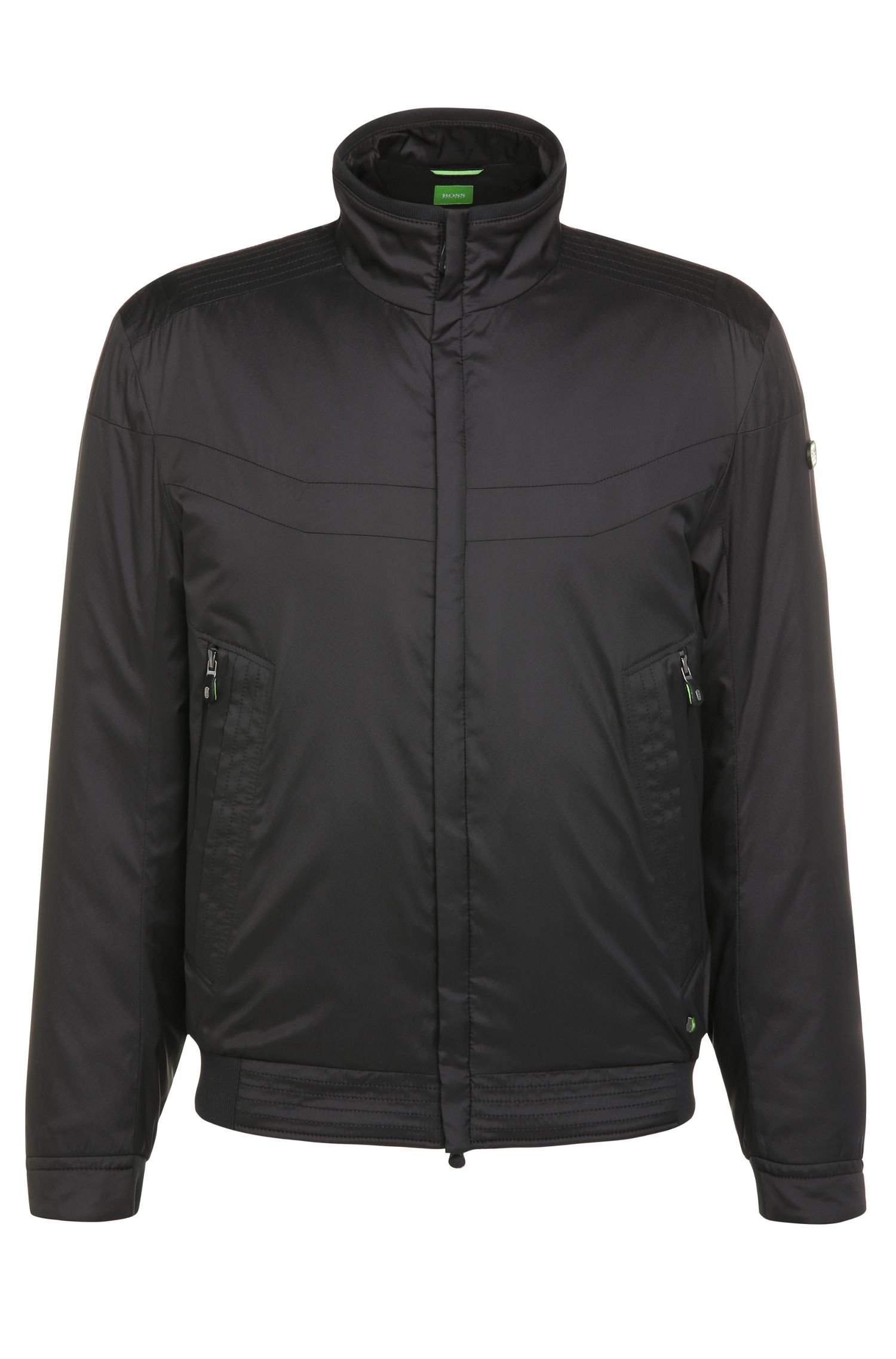Regular-fit bomber jacket in lightweight fabric: 'Jakes'
