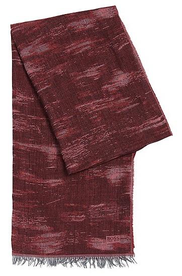 Gemusterter Schal aus Viskose-Mix mit Baumwolle: 'Puneto', Rot