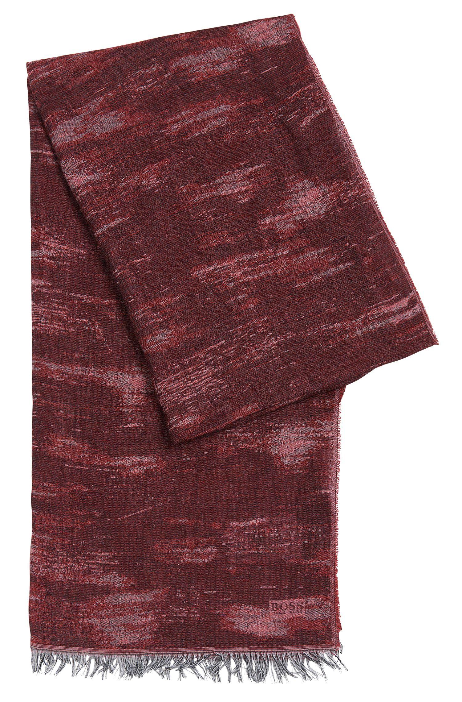 Écharpe à motif en viscose mélangée avec du coton: «Puneto»