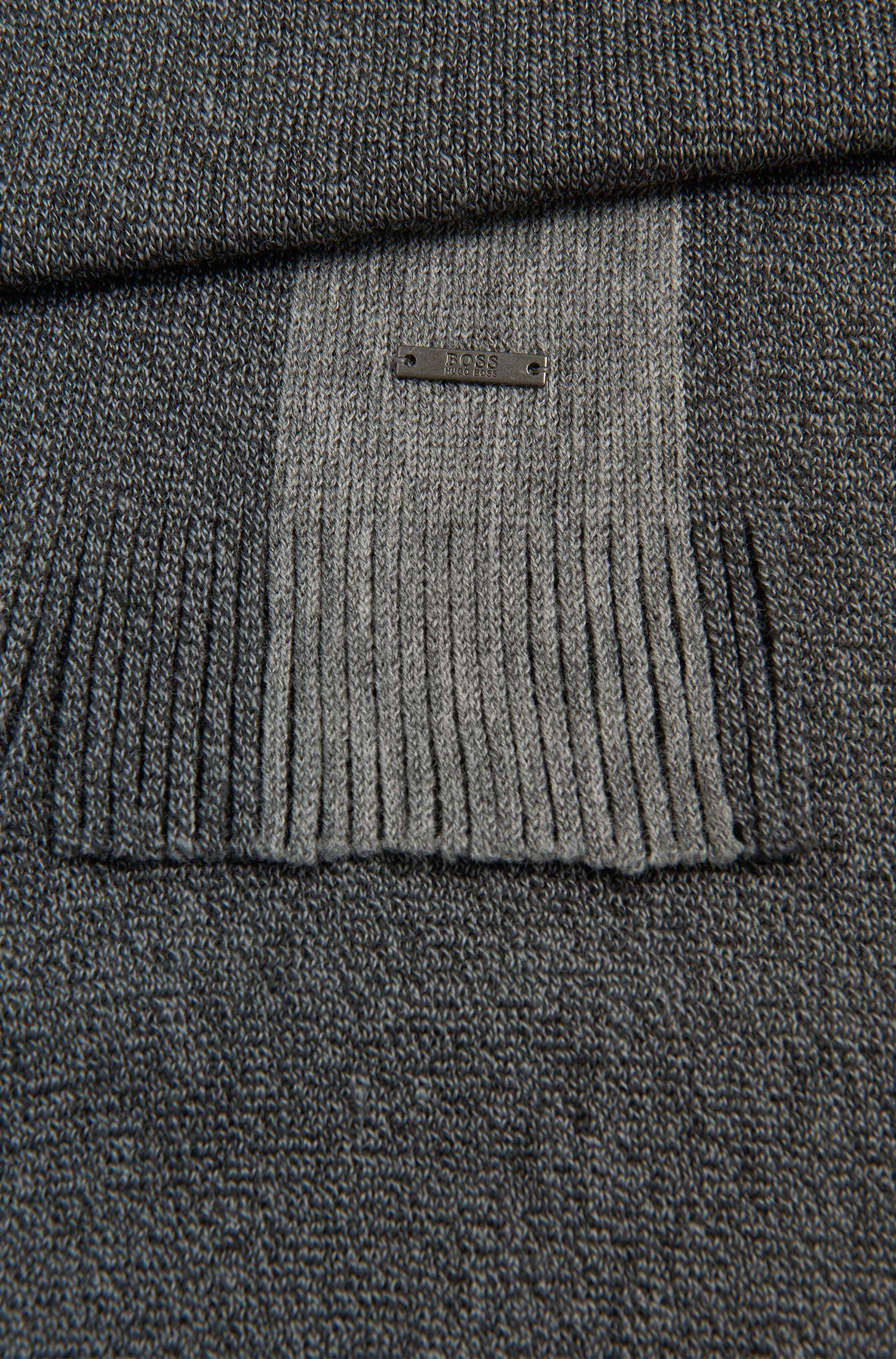 Schal aus Schurwolle mit Streifen-Detail: 'Fador'