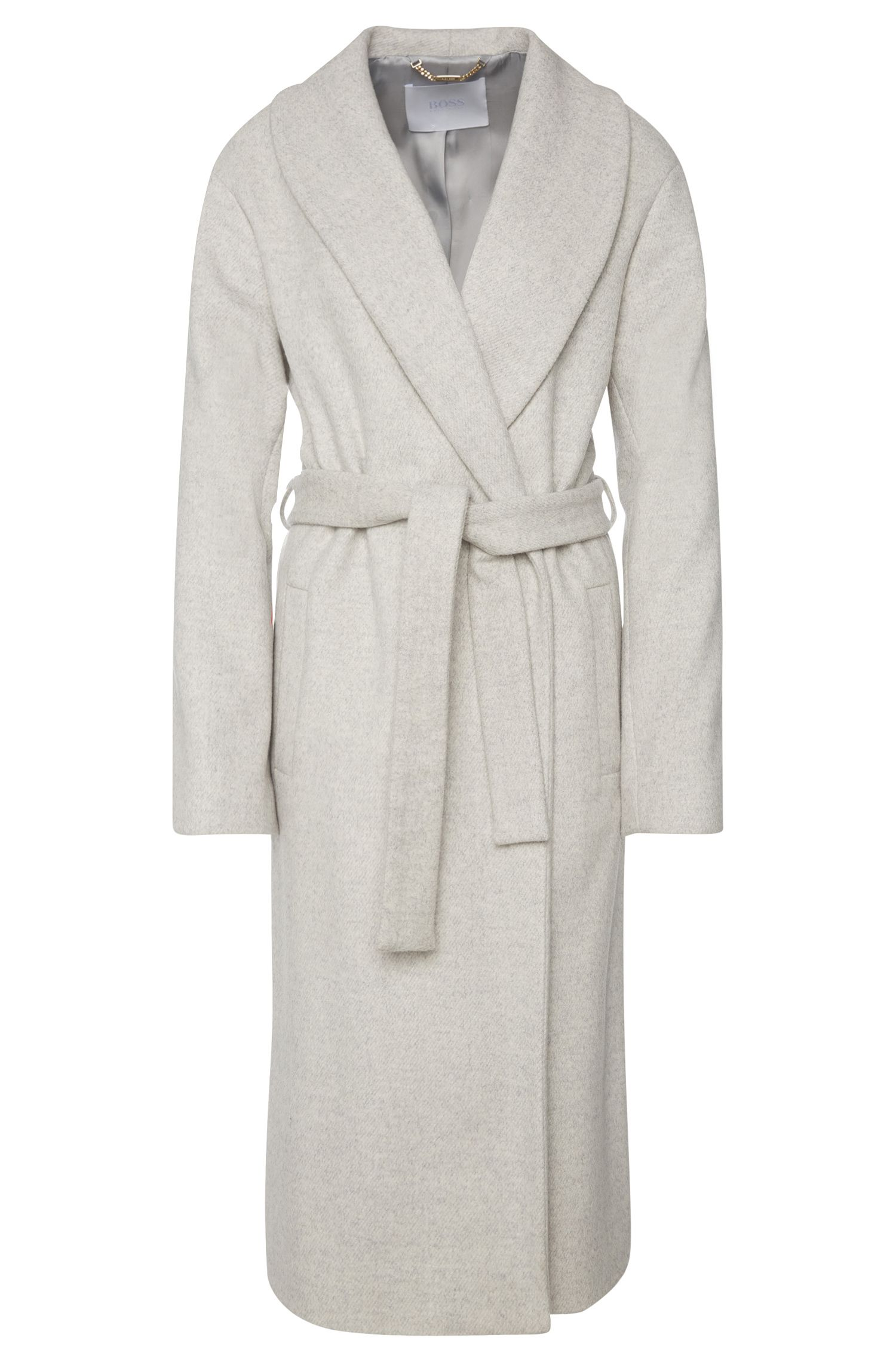 Manteau en laine mélangée avec ceinture à nouer: «Colleta»