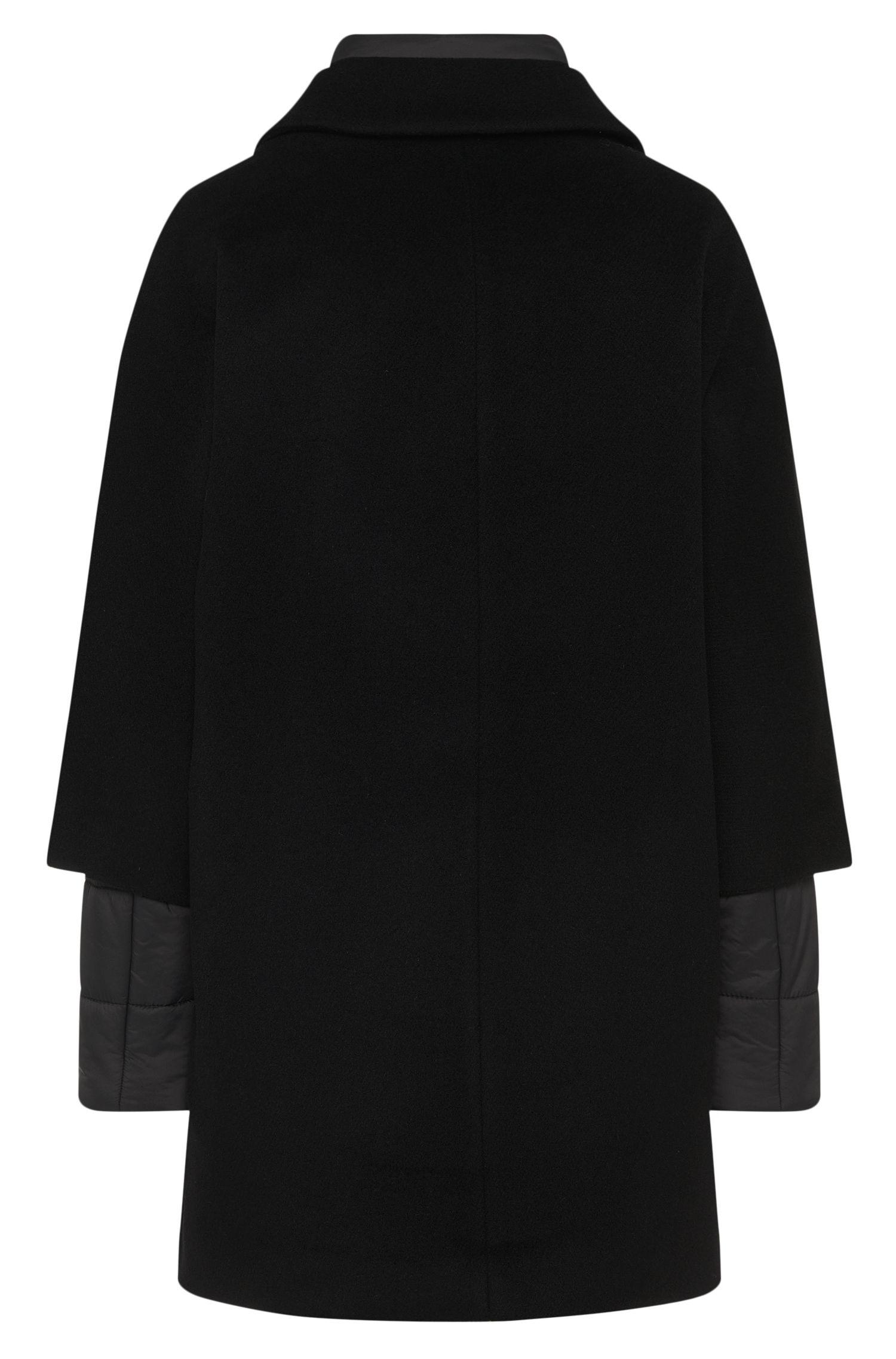 2-in-1-Mantel aus Woll-Mix mit integriertem Steppmantel: 'Pacena'