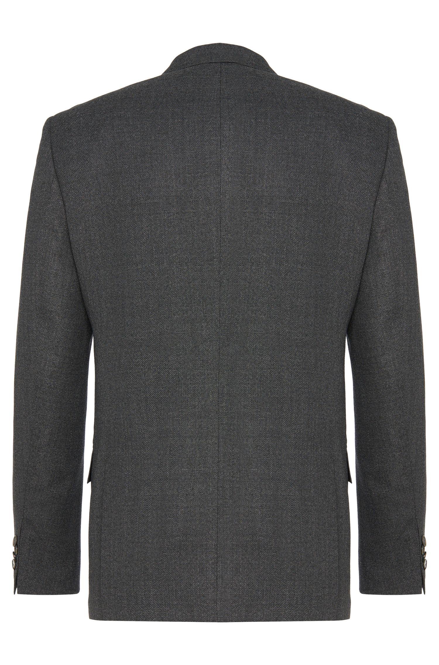 Veste de costume Slim Fit en laine vierge structurée, à boutons en nacre: «Hutson2»