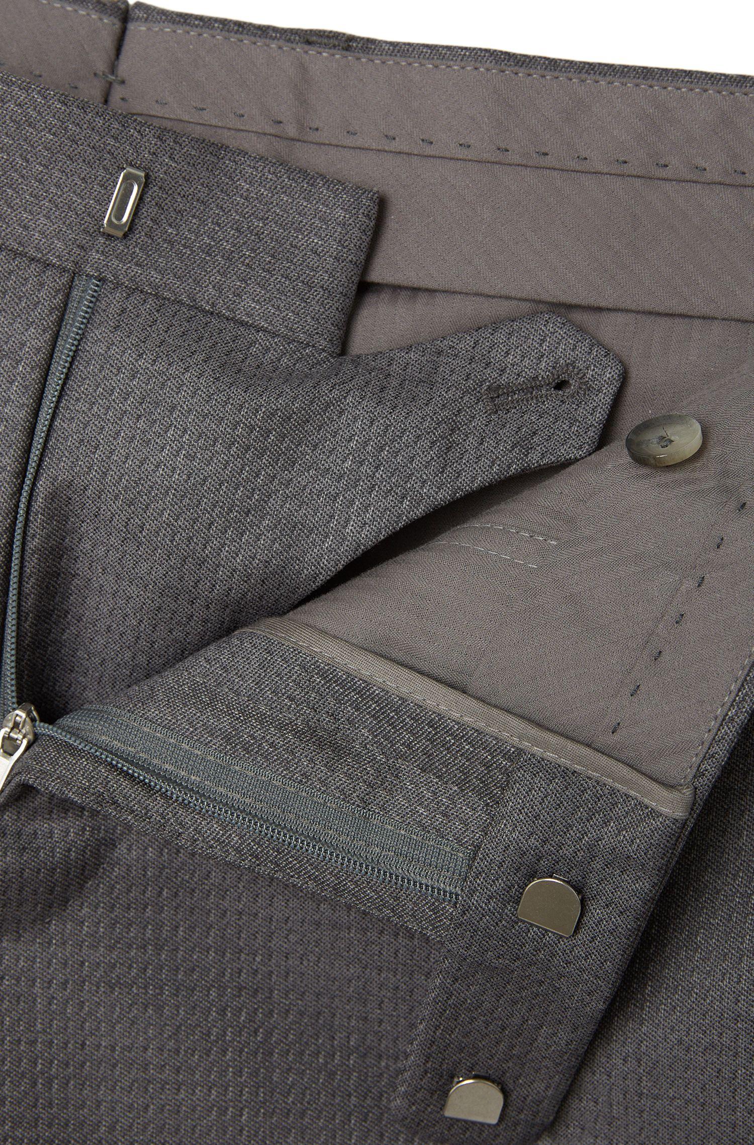 Pantalon Slim Fit Tailored en pure laine vierge: «T-Gilmond»