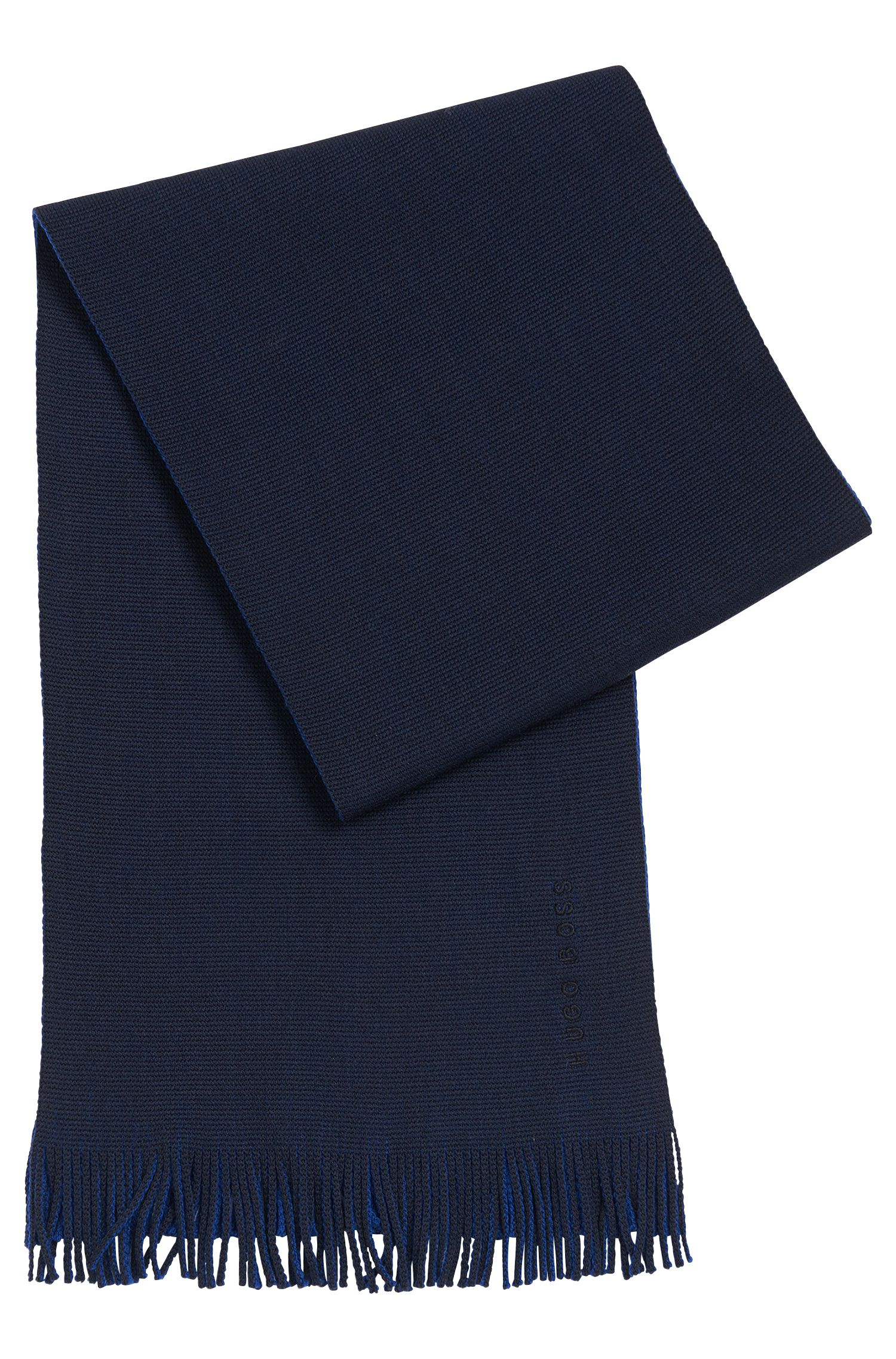 Scarf in pure new wool in contrasting colours: 'Albas_D'