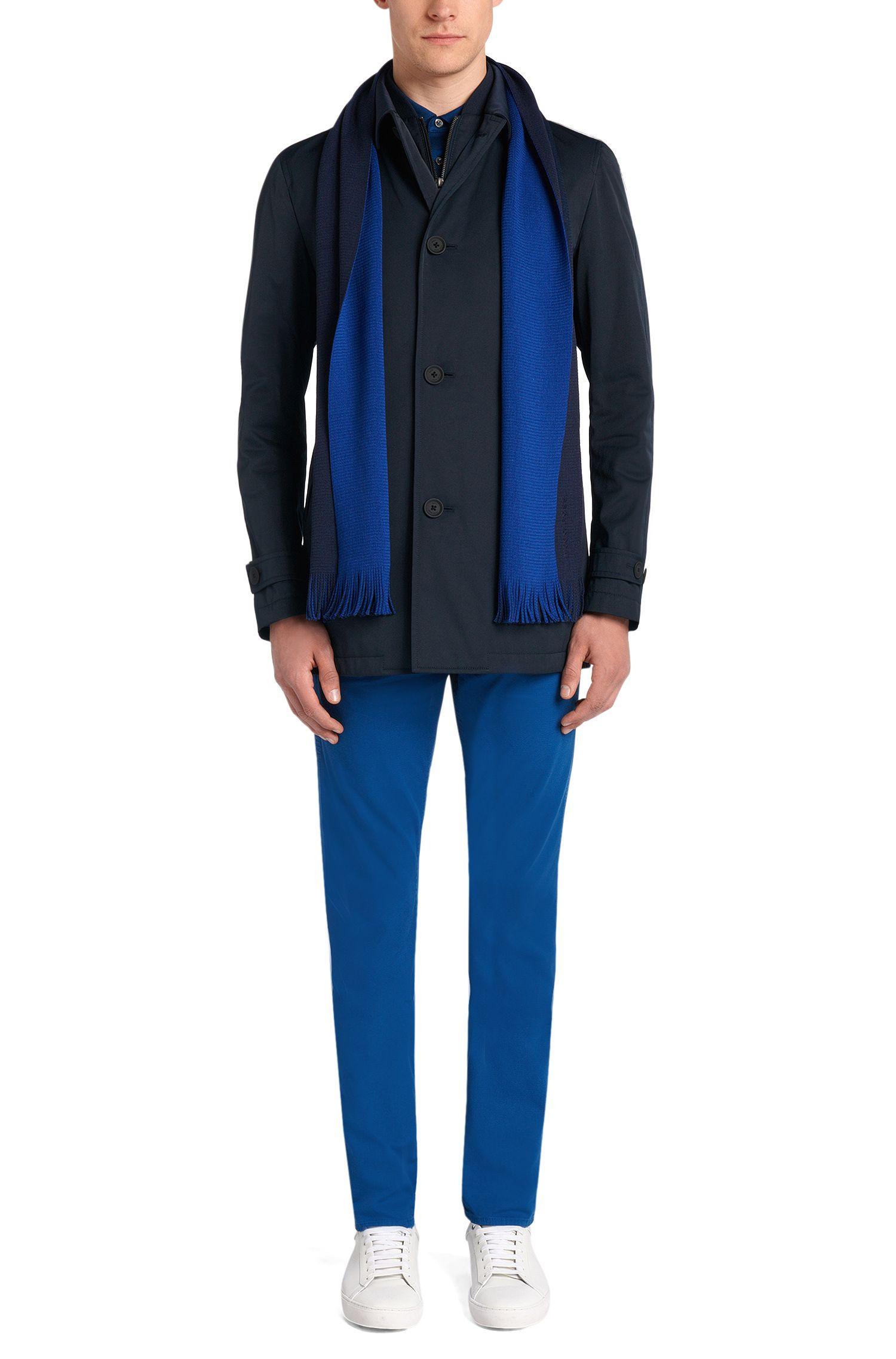 Écharpe en pure laine vierge aux couleurs contrastantes: «Albas_D»