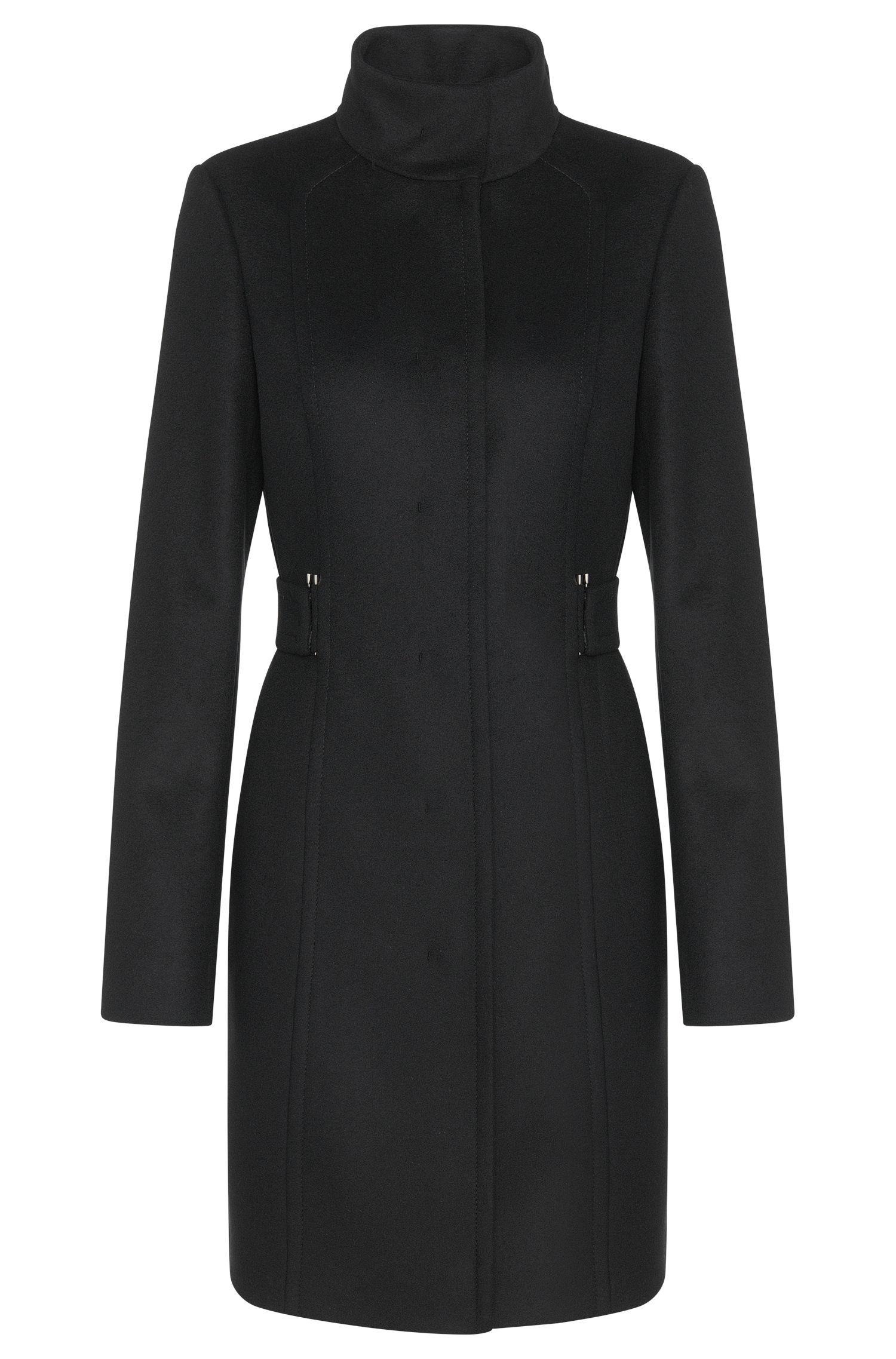 Manteau en laine vierge mélangée, avec du cachemire: «Cielina»