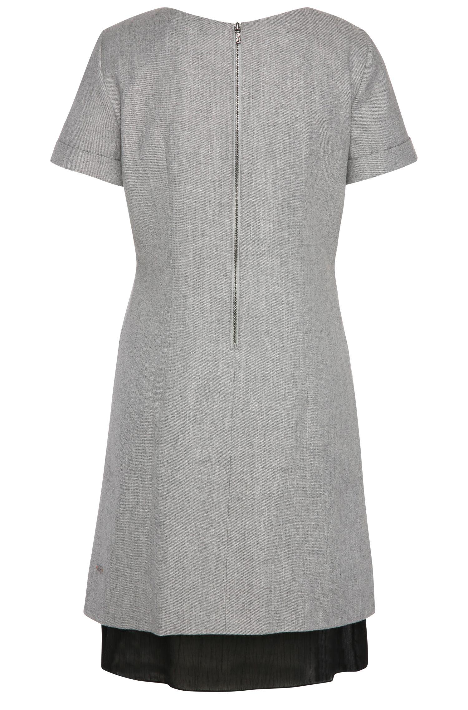 Regular-Fit Kleid aus Baumwoll-Mix mit Schurwolle: ´Awooly`
