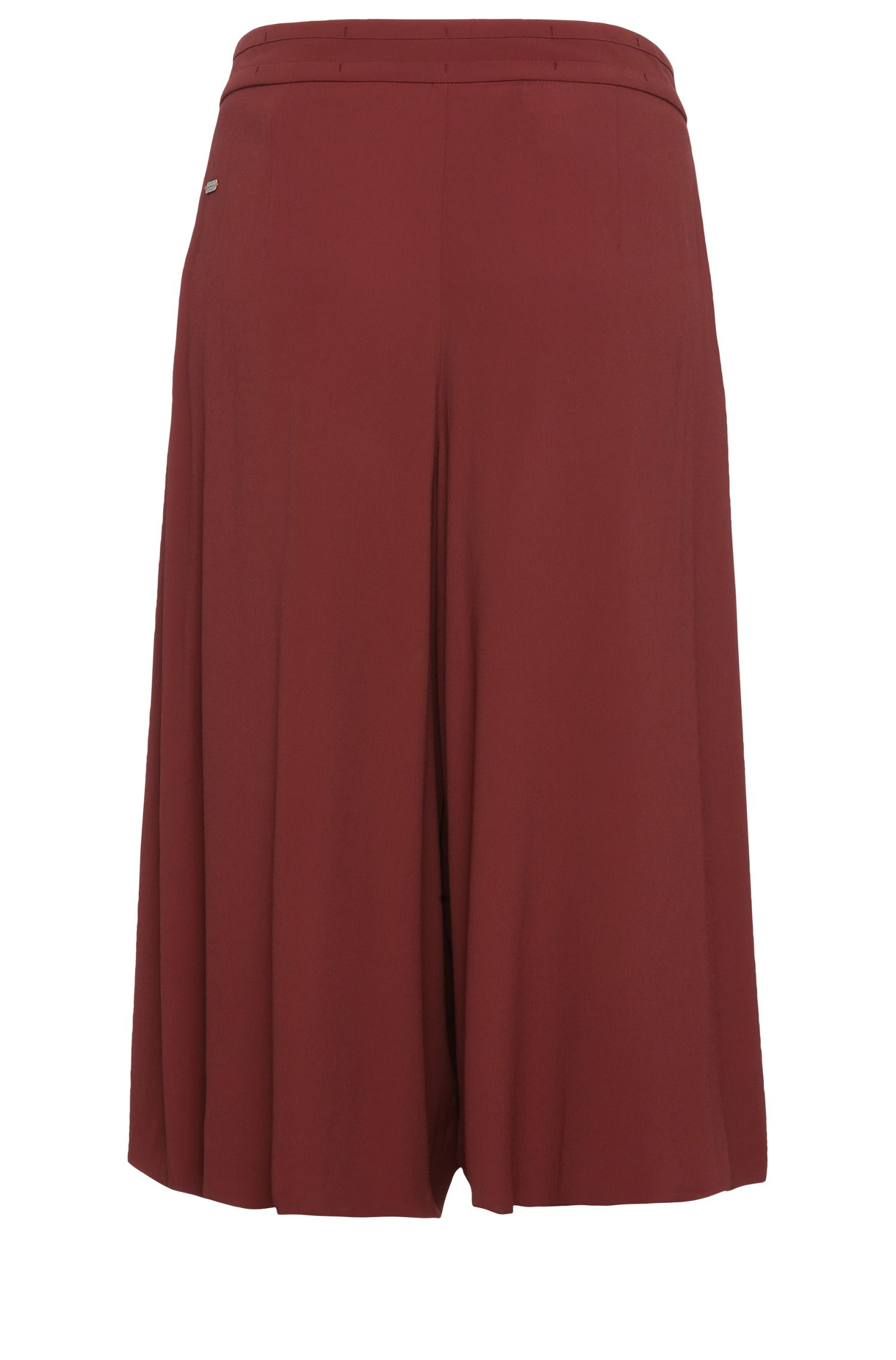 Jupe-culotte en crêpe de viscose stretch: «Belydia»
