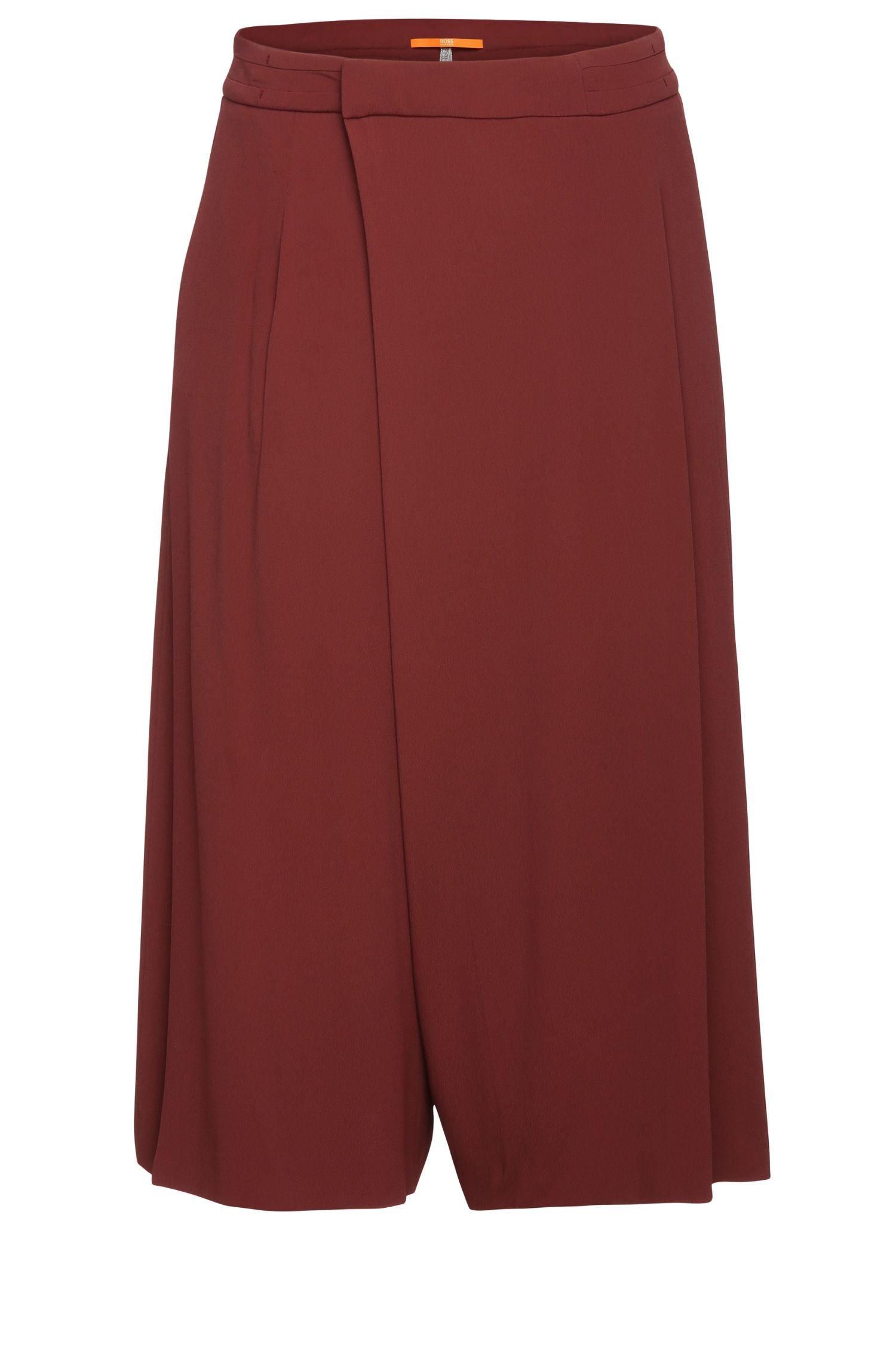Divided skirt in stretch viscose crepe: 'Belydia'