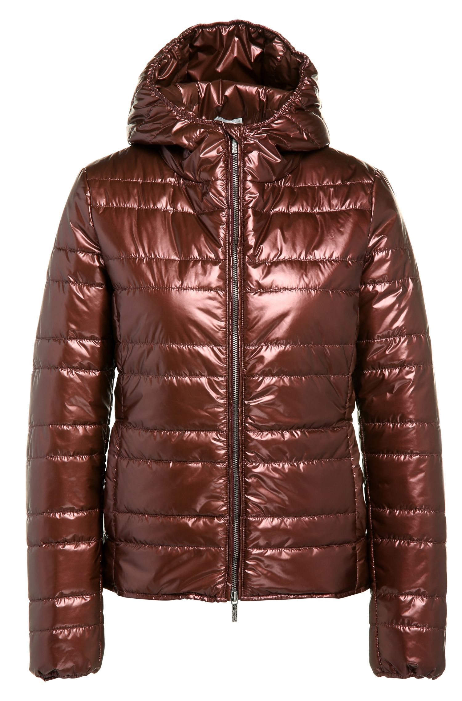 Regular-Fit Steppjacke aus Material-Mix in Metallic-Optik: ´Otarra`