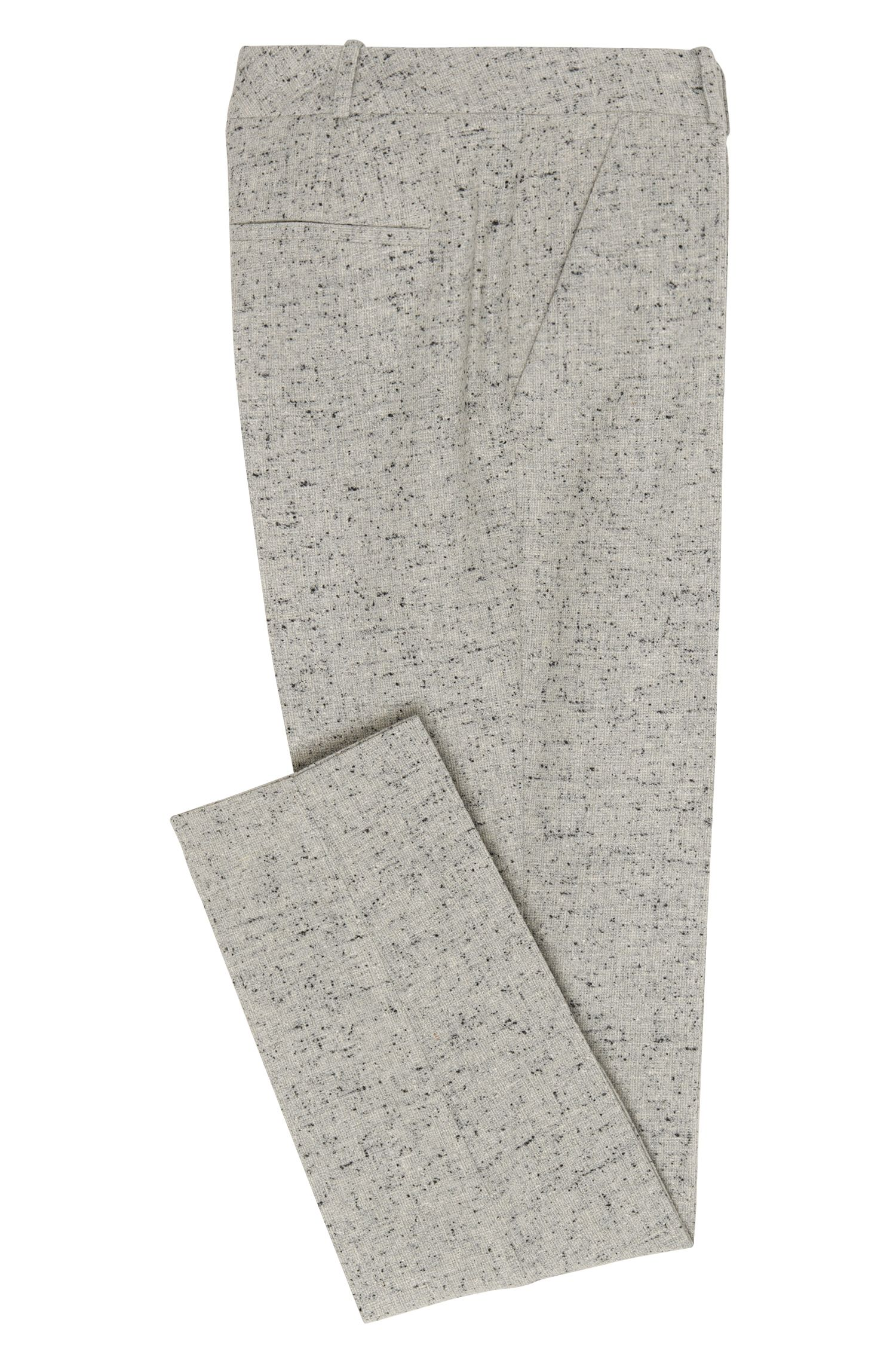Pantalon Regular Fit en matières extensibles mélangées, orné de fil boutonné: «Acnes8»