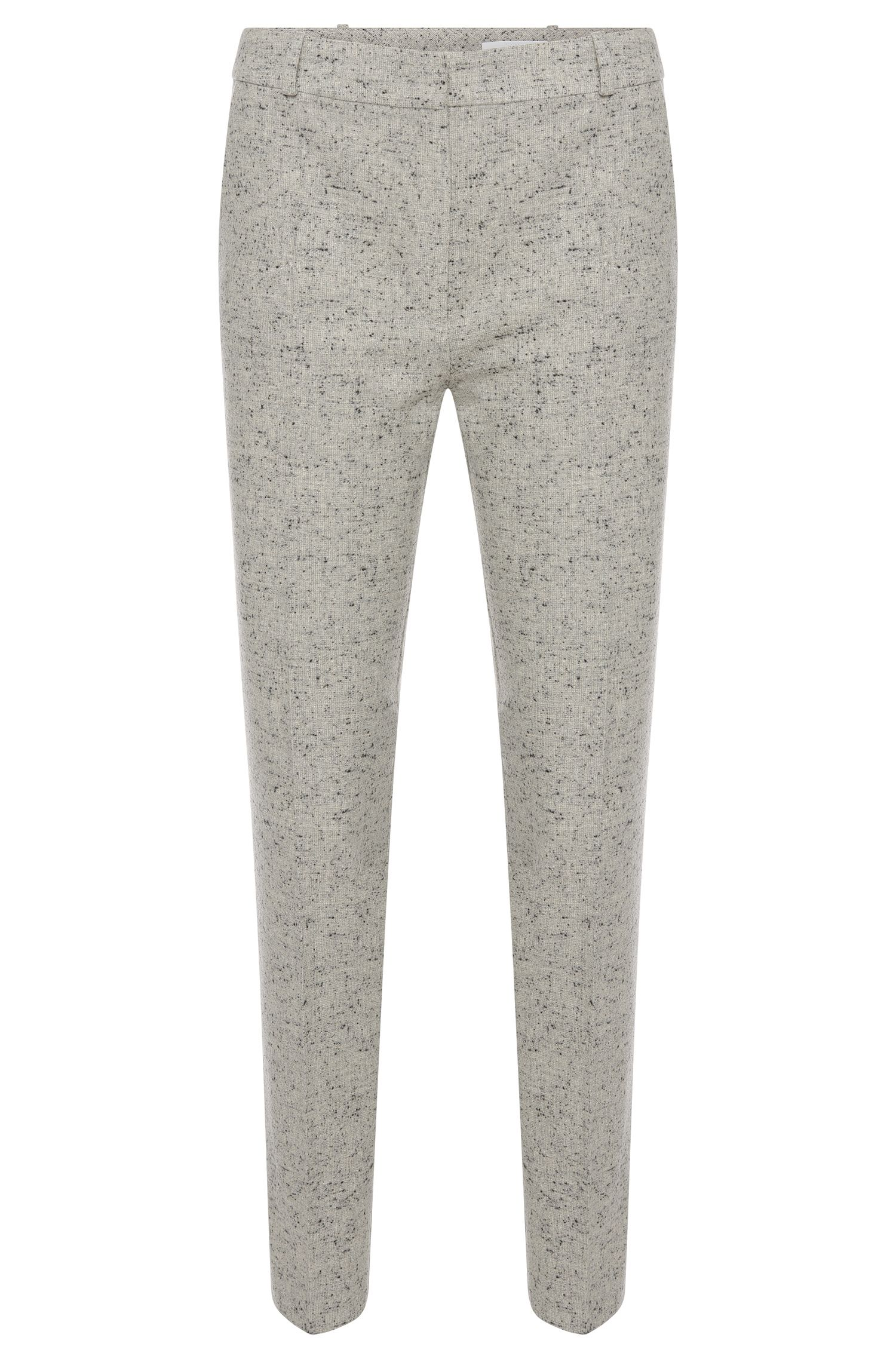 Regular-fit trousers in stretchy fabric blend with slub yarn: 'Acnes8'