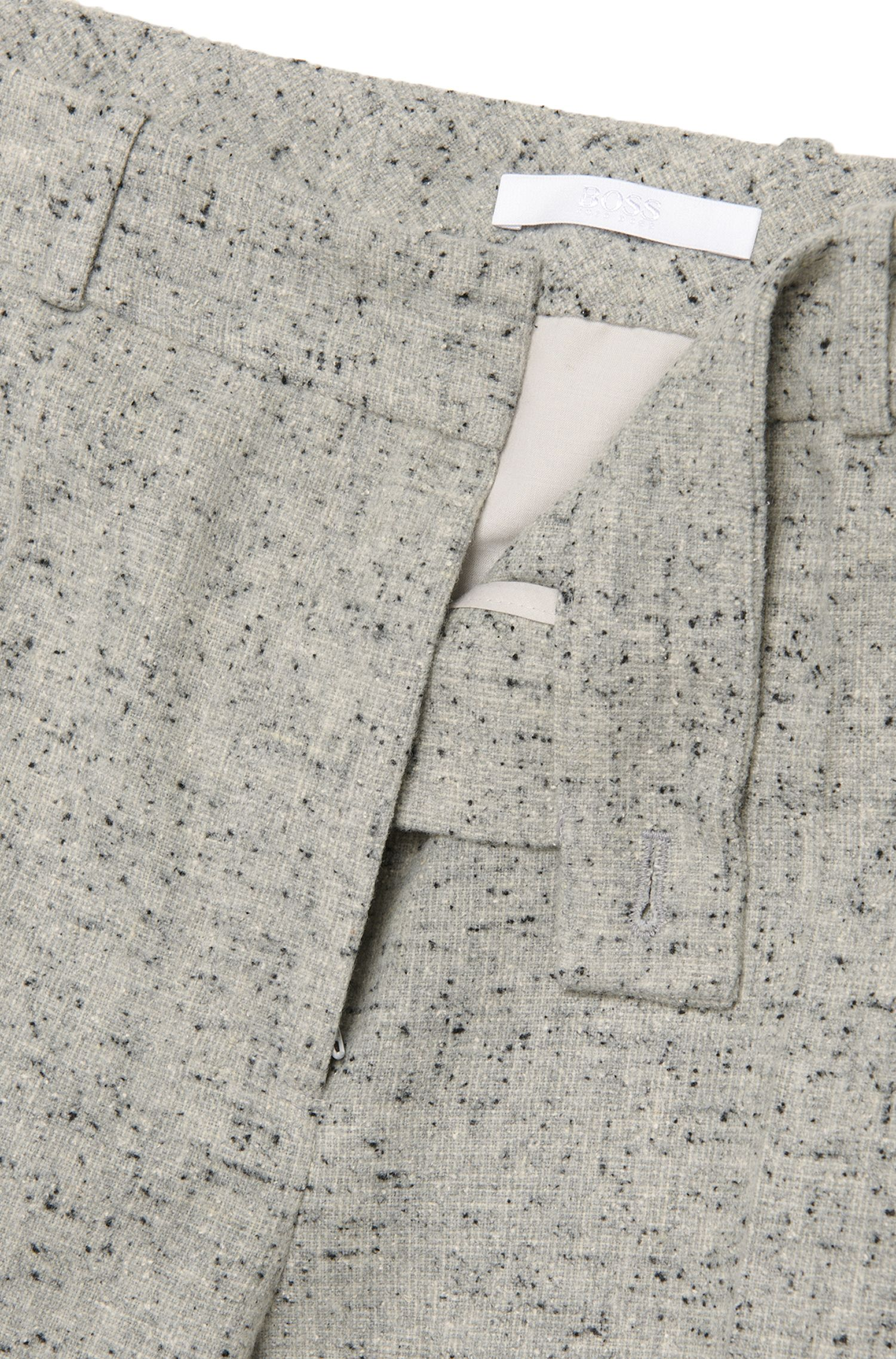 Regular-Fit Hose aus elastischem Material-Mix mit Noppengarn: 'Acnes8'