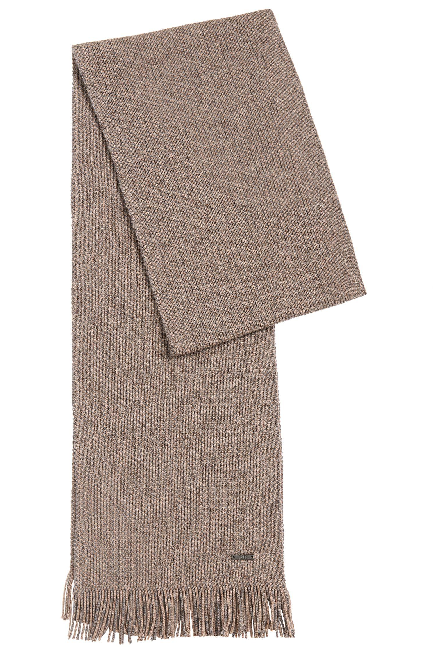 Fijngemêleerde sjaal van scheerwol: 'Maroso'