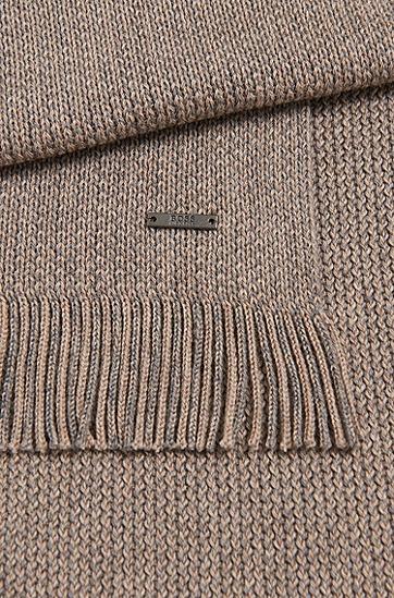 Fein melierter Schal aus Schurwolle: 'Maroso', Beige