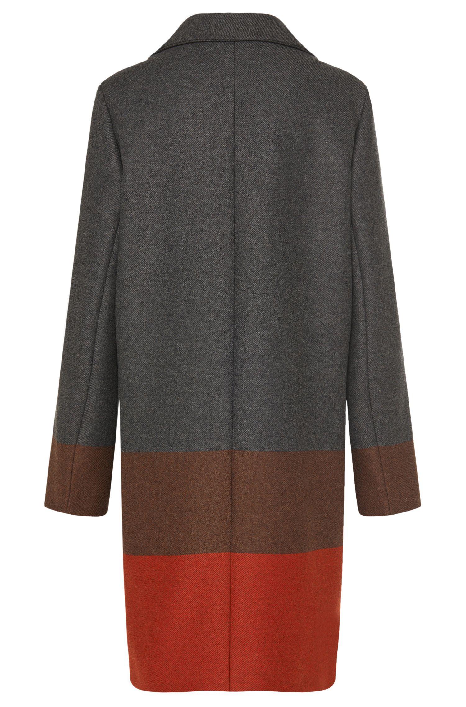Gestreifter Mantel aus Woll-Mix mit Kaschmir-Anteil: 'Colorina'