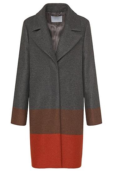 Gestreifter Mantel aus Woll-Mix mit Kaschmir-Anteil: 'Colorina', Gemustert