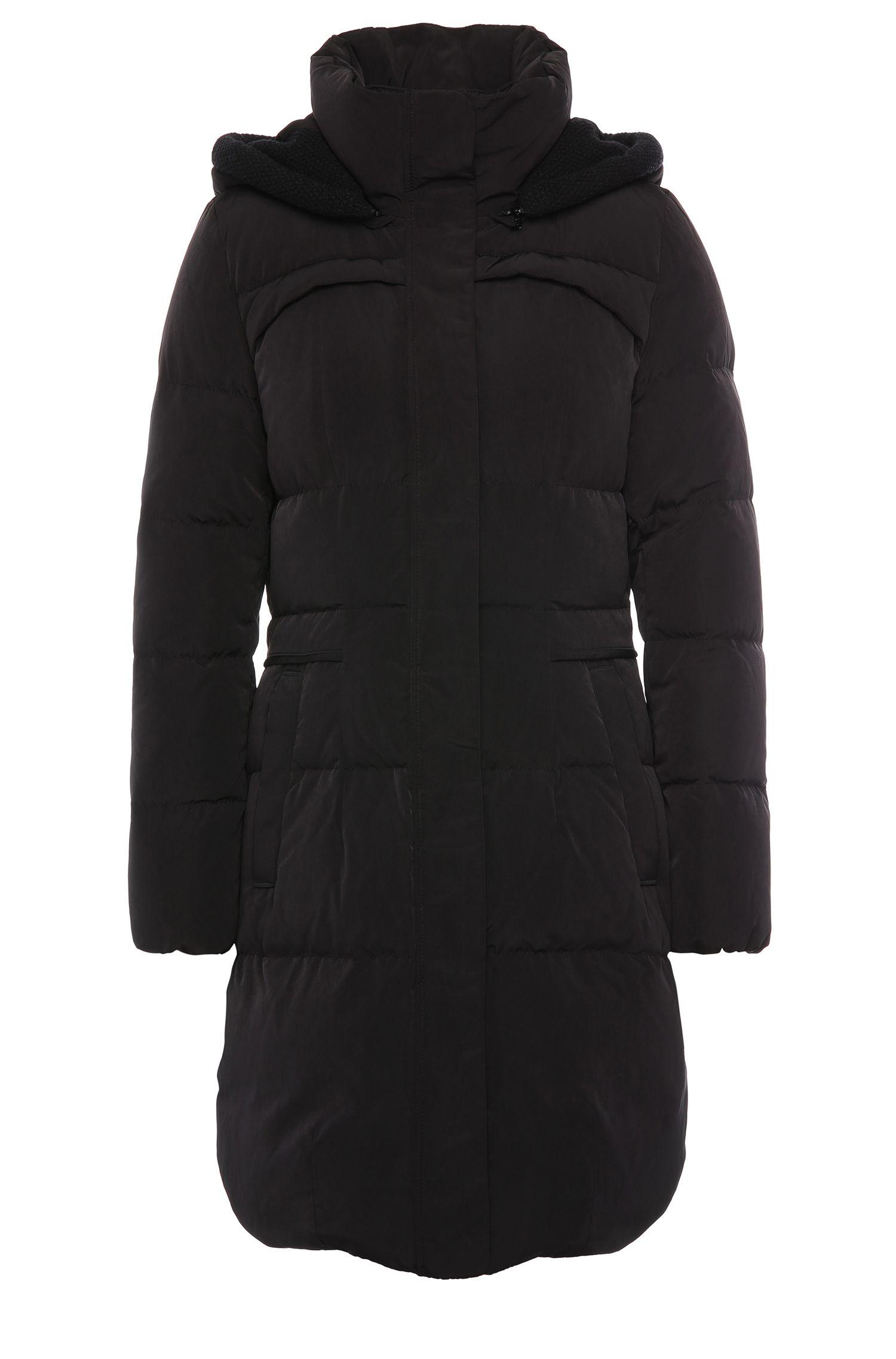 Manteau matelassé cintré à capuche amovible: «Osenna»