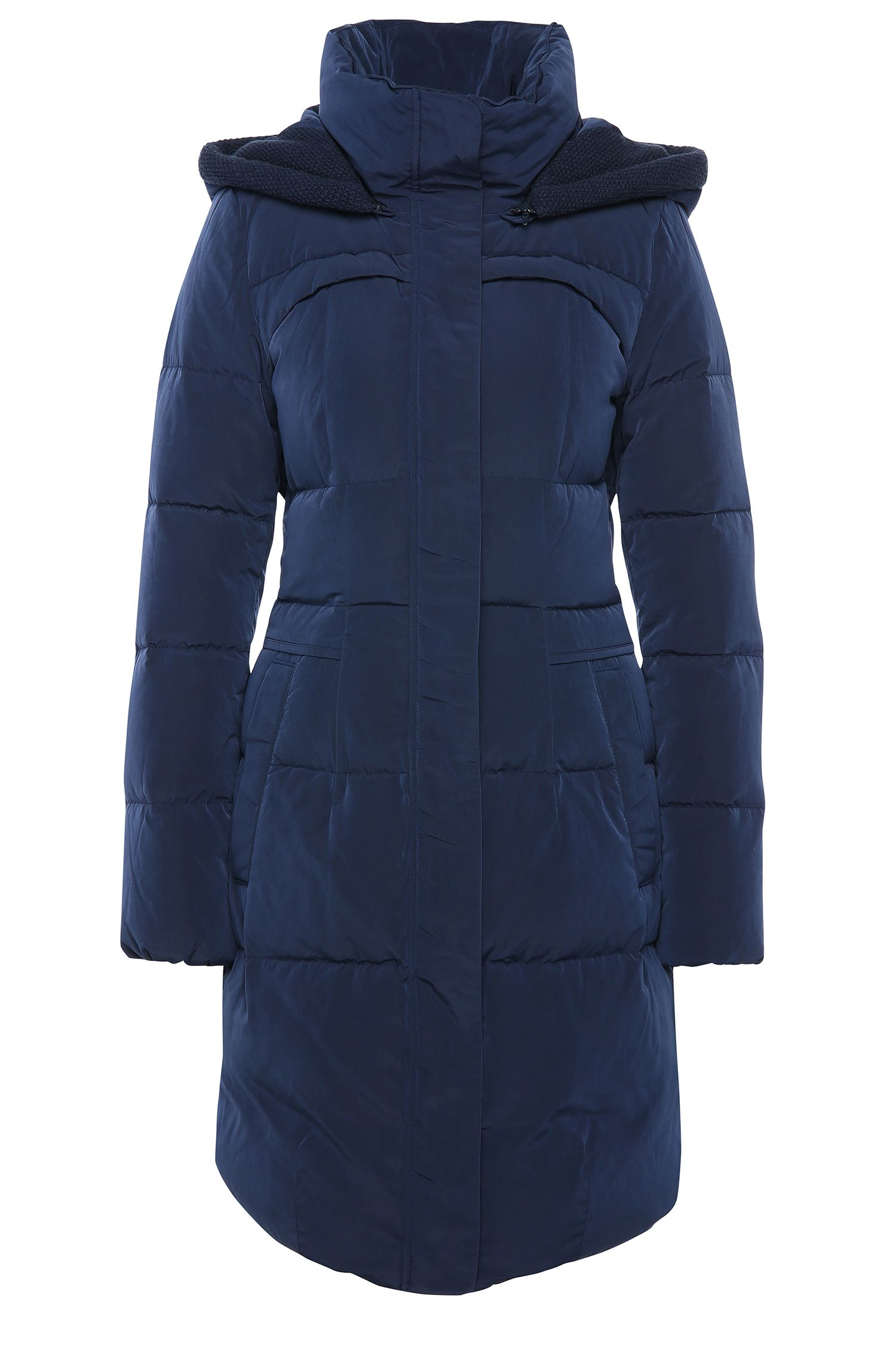 Fitted and quilted coat with detachable hood: 'Osenna'