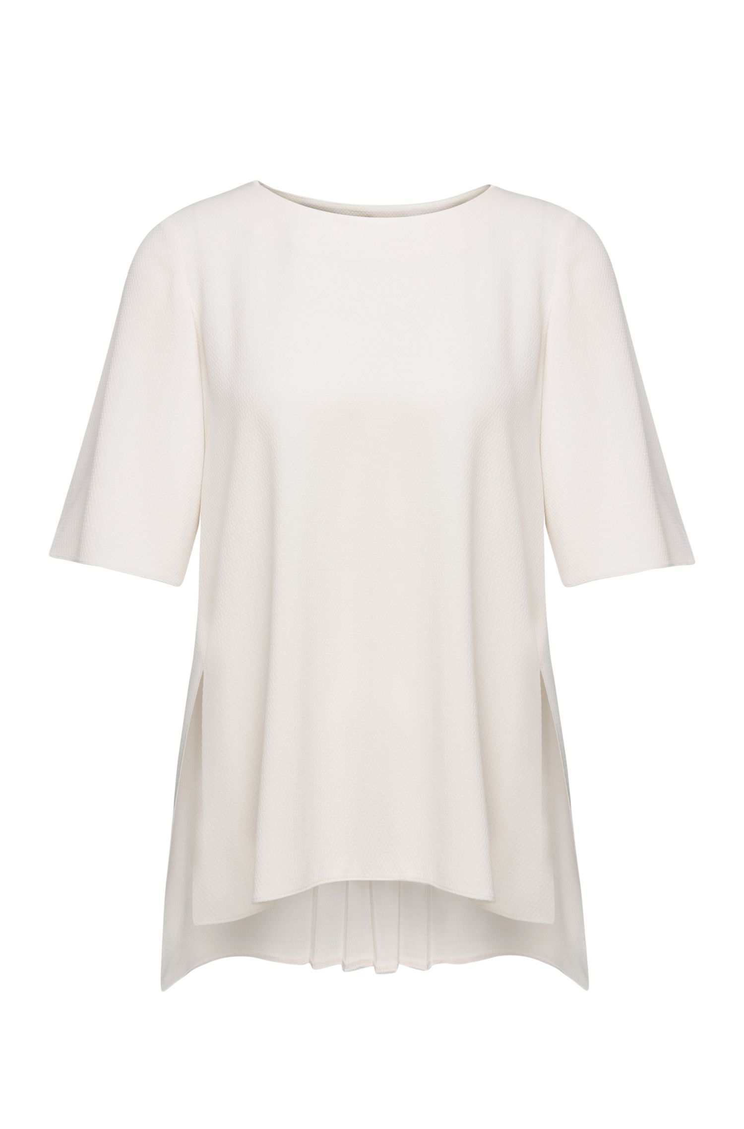 Oversized top in a textured quality: 'Kocora'