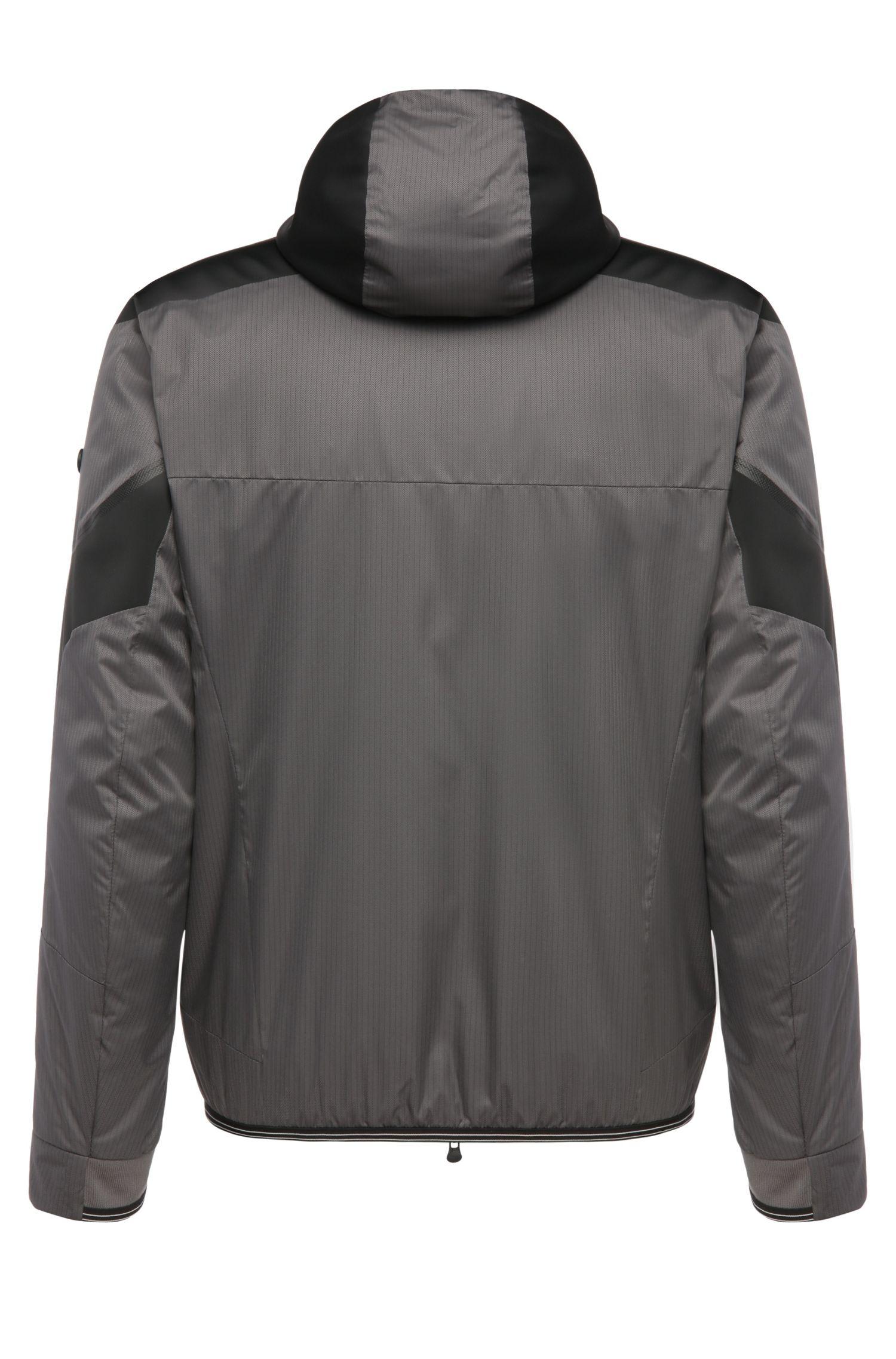 Regular-Fit Jacke aus einem Material-Mix: ´Jarono`