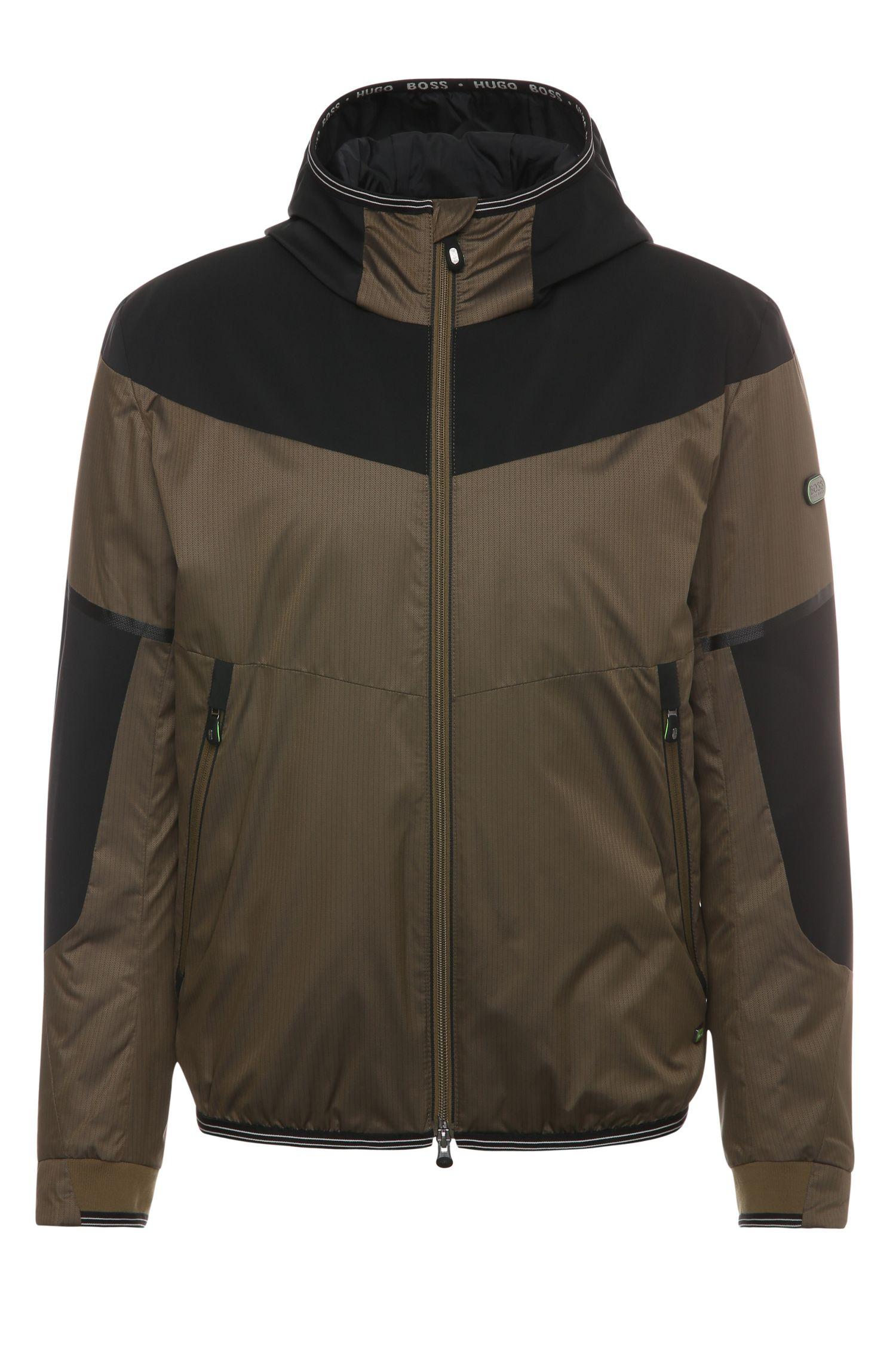 Regular-fit jas van een materiaalmix: 'Jarono'