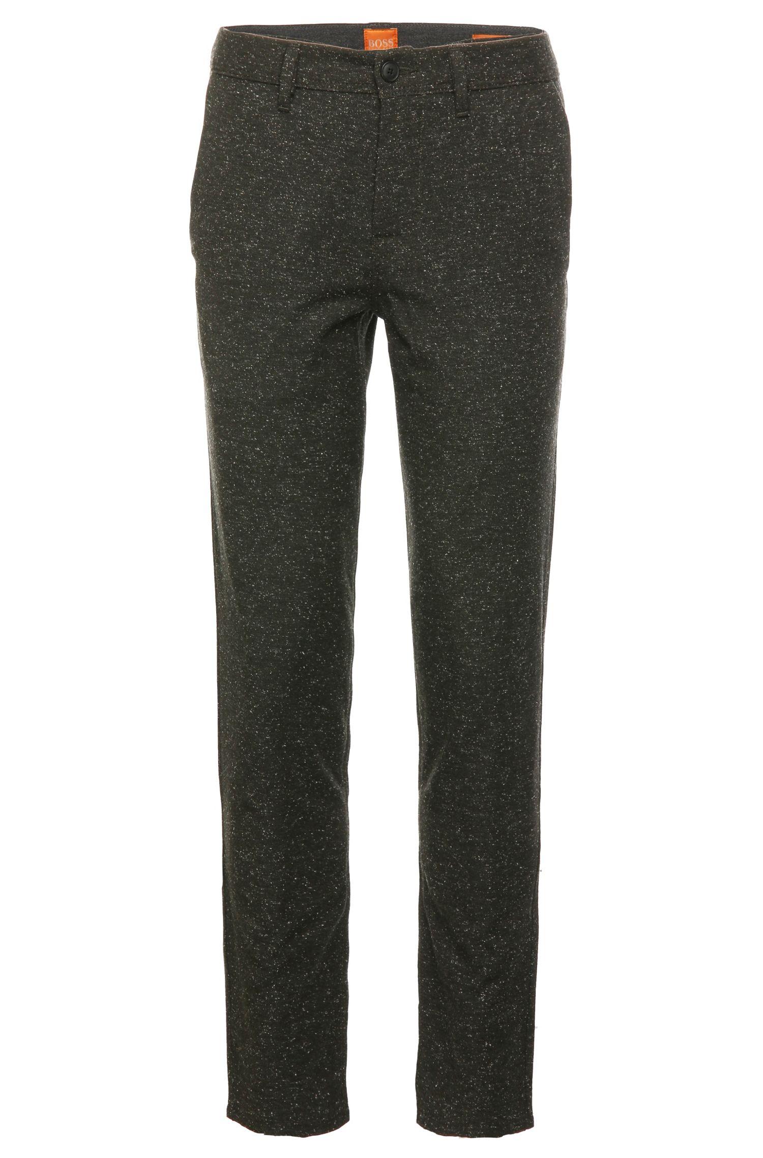Pantalon Tapered Fit confectionné en mélange de matières, avec de la laine, de la viscose et de la soie: «Stapered»
