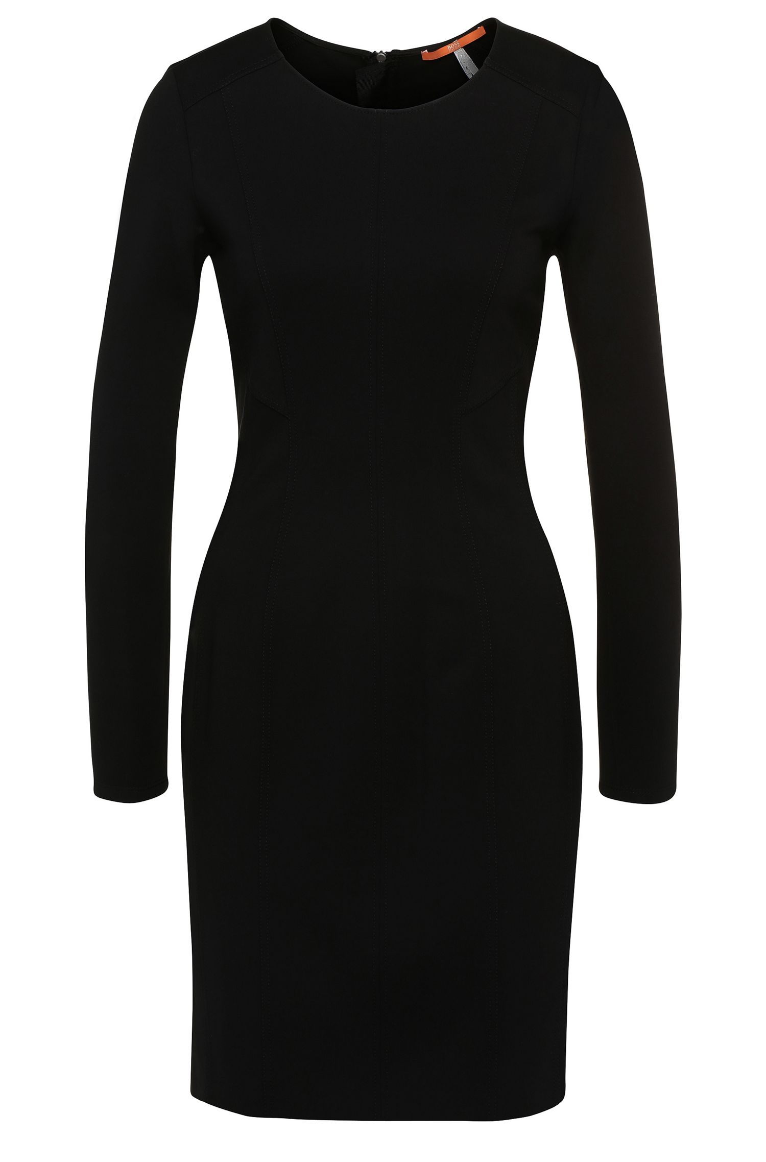 Etui-Kleid aus elastischem Viskose-Mix: ´Aloka1`