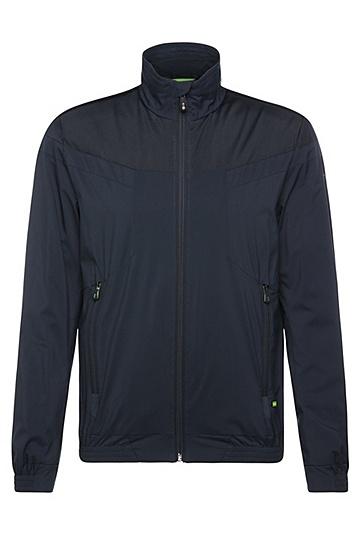Leichte Blouson-Jacke in glatter Qualität: ´Jalomo 1`, Dunkelblau
