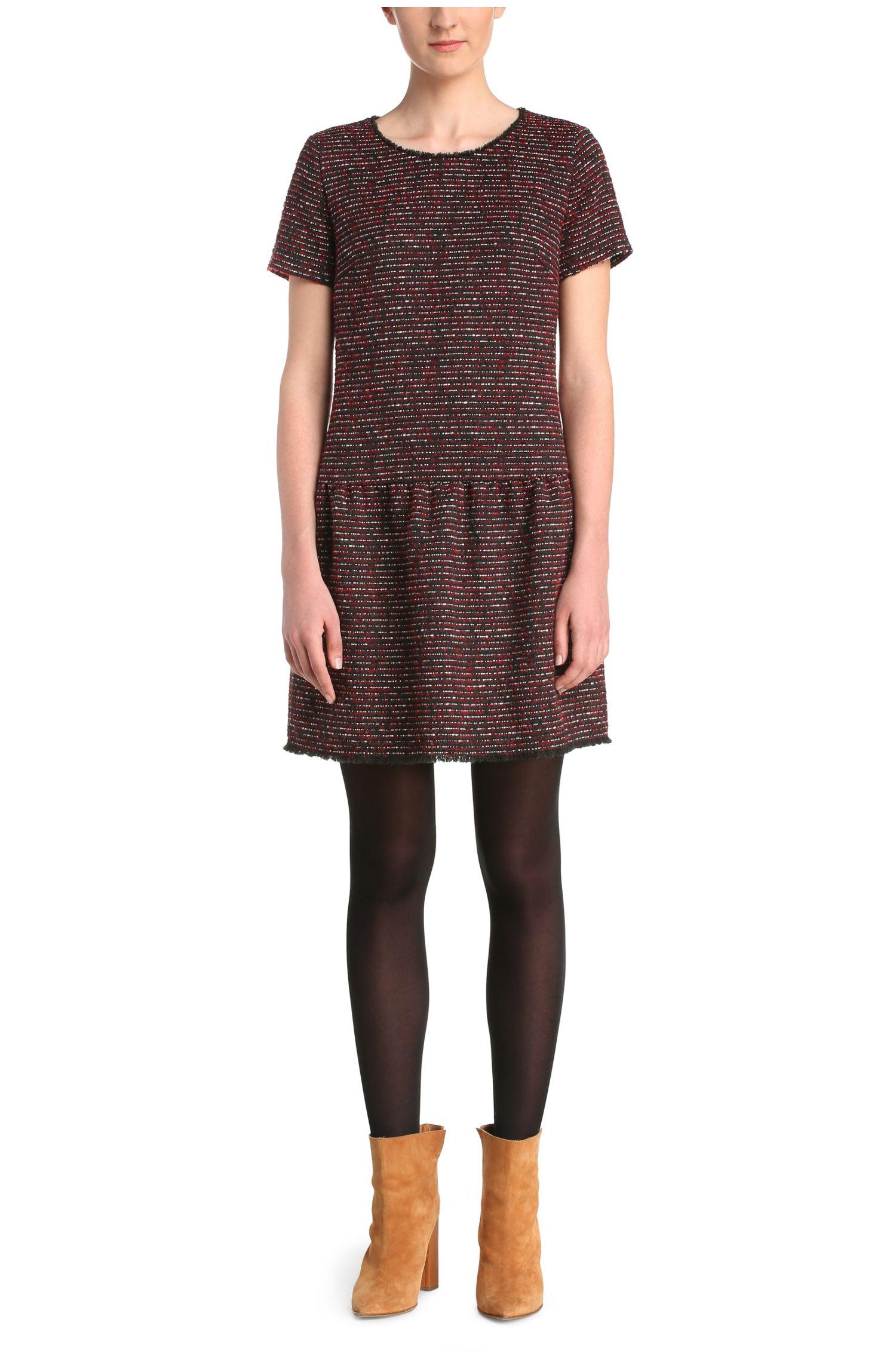 Kleid aus Material-Mix mit Bouclé-Textur: ´Akarli`