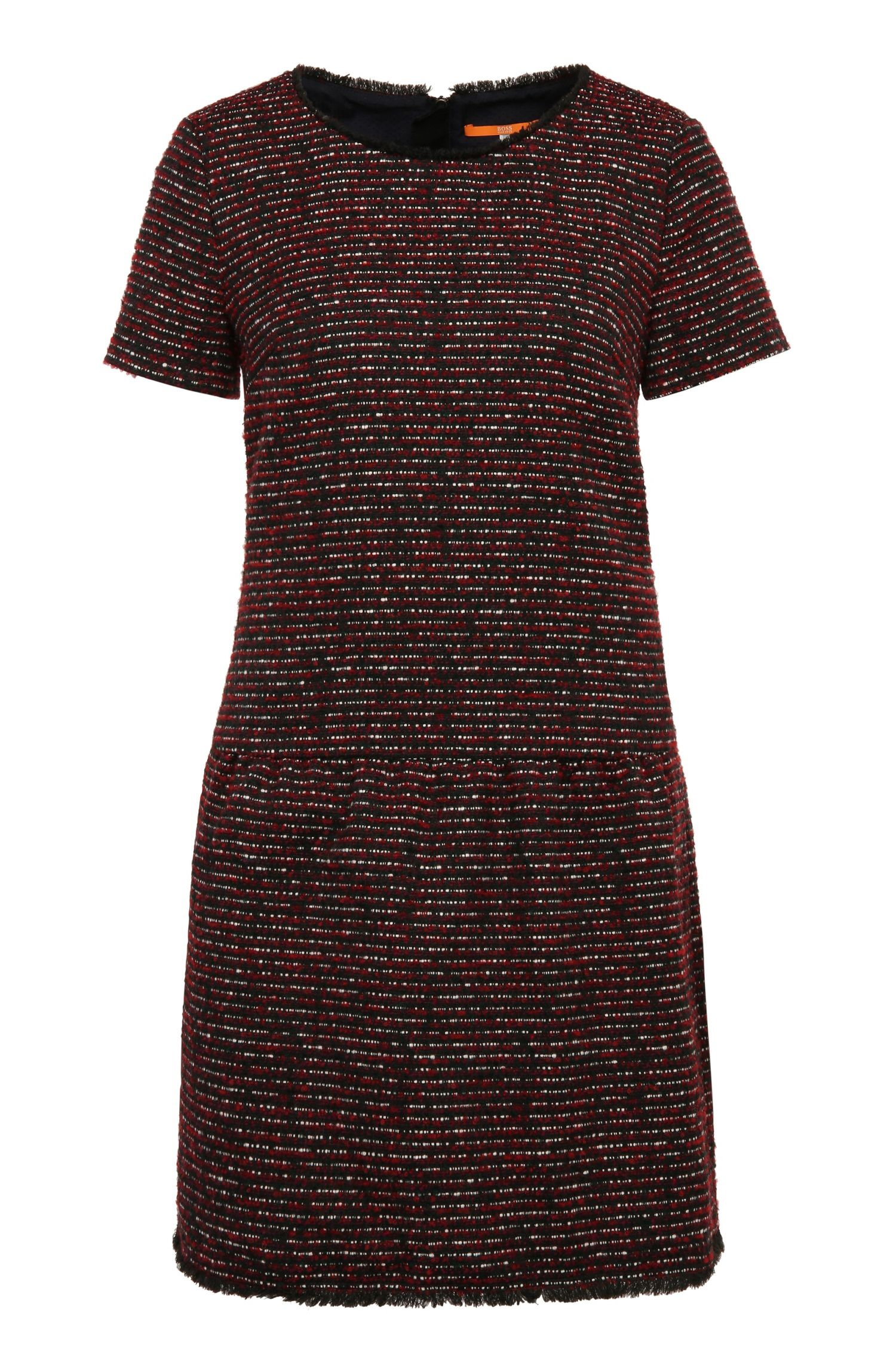 Dress in fabric blend with bouclé texture: 'Akarli'