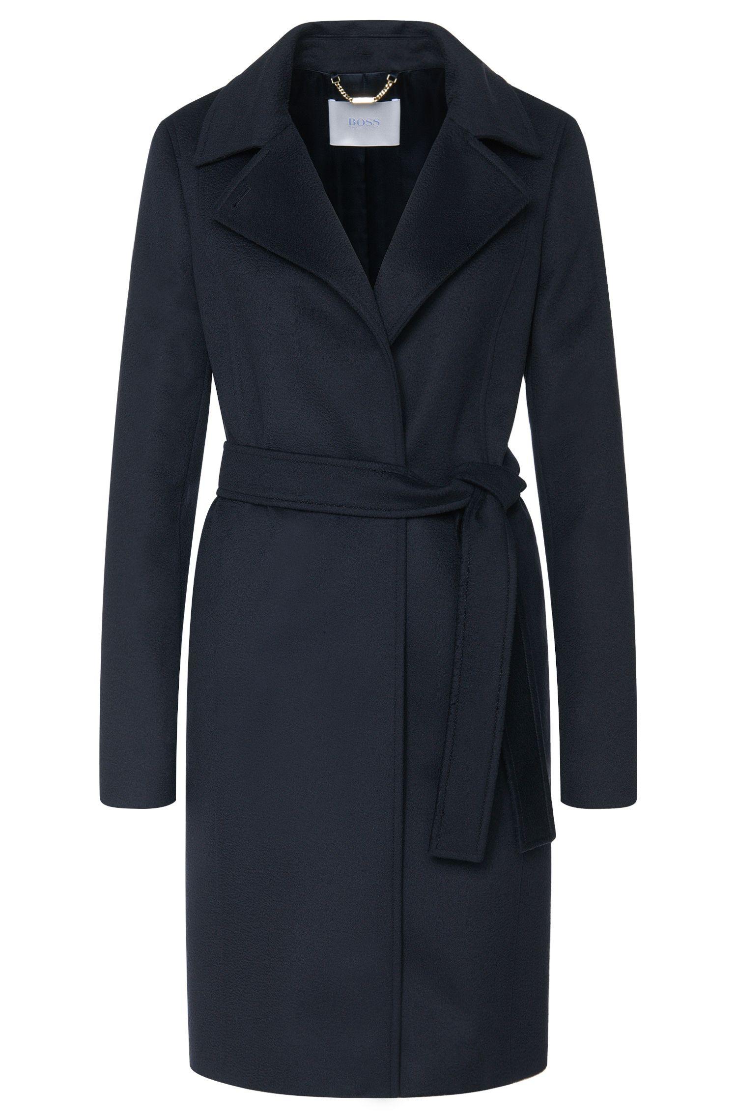 Mantel aus reiner Schurwolle mit Bindegürtel: 'Canika'