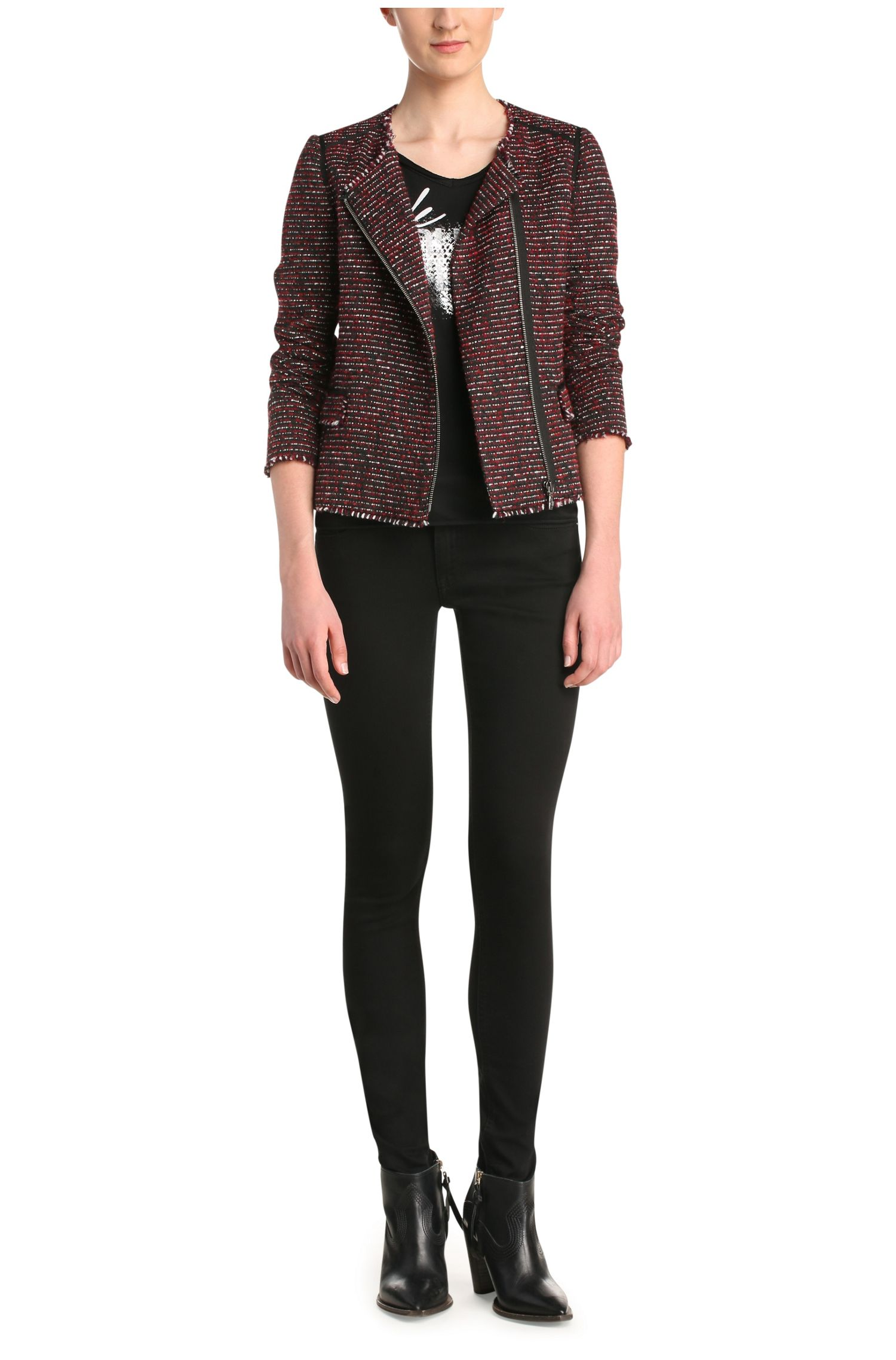 Hüftlange Jacke in Tweed-Optik: ´Okarli`