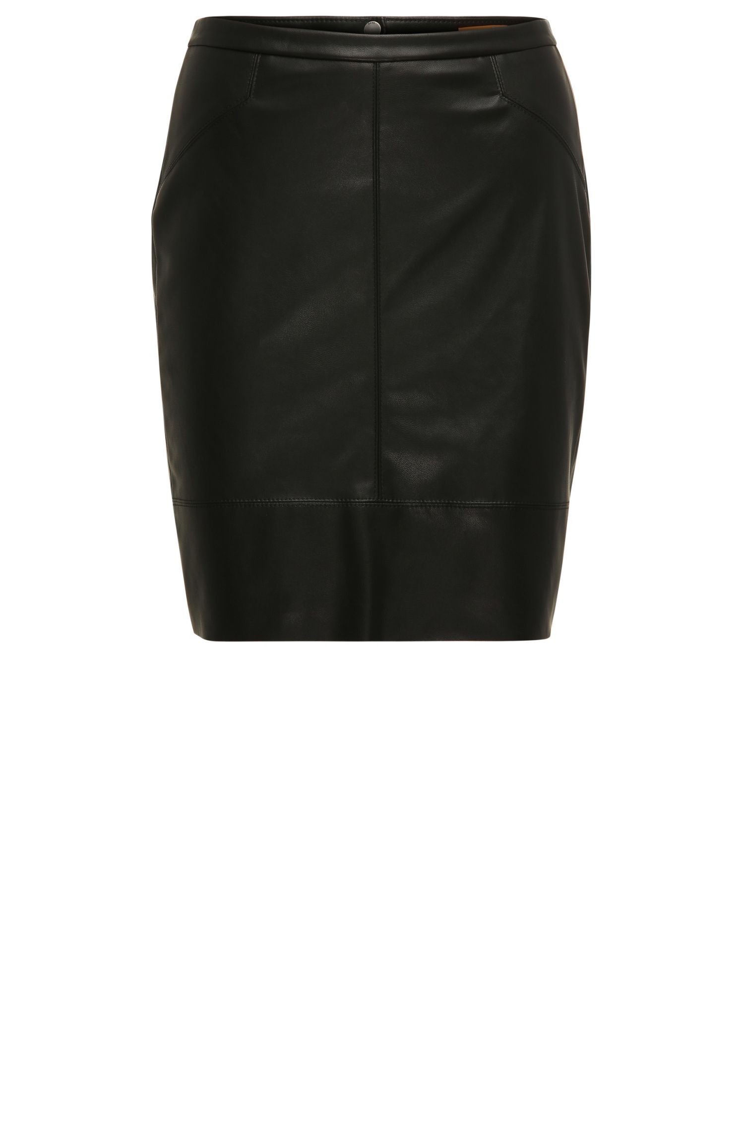 Figure-hugging mini skirt in faux leather: 'Bapali'