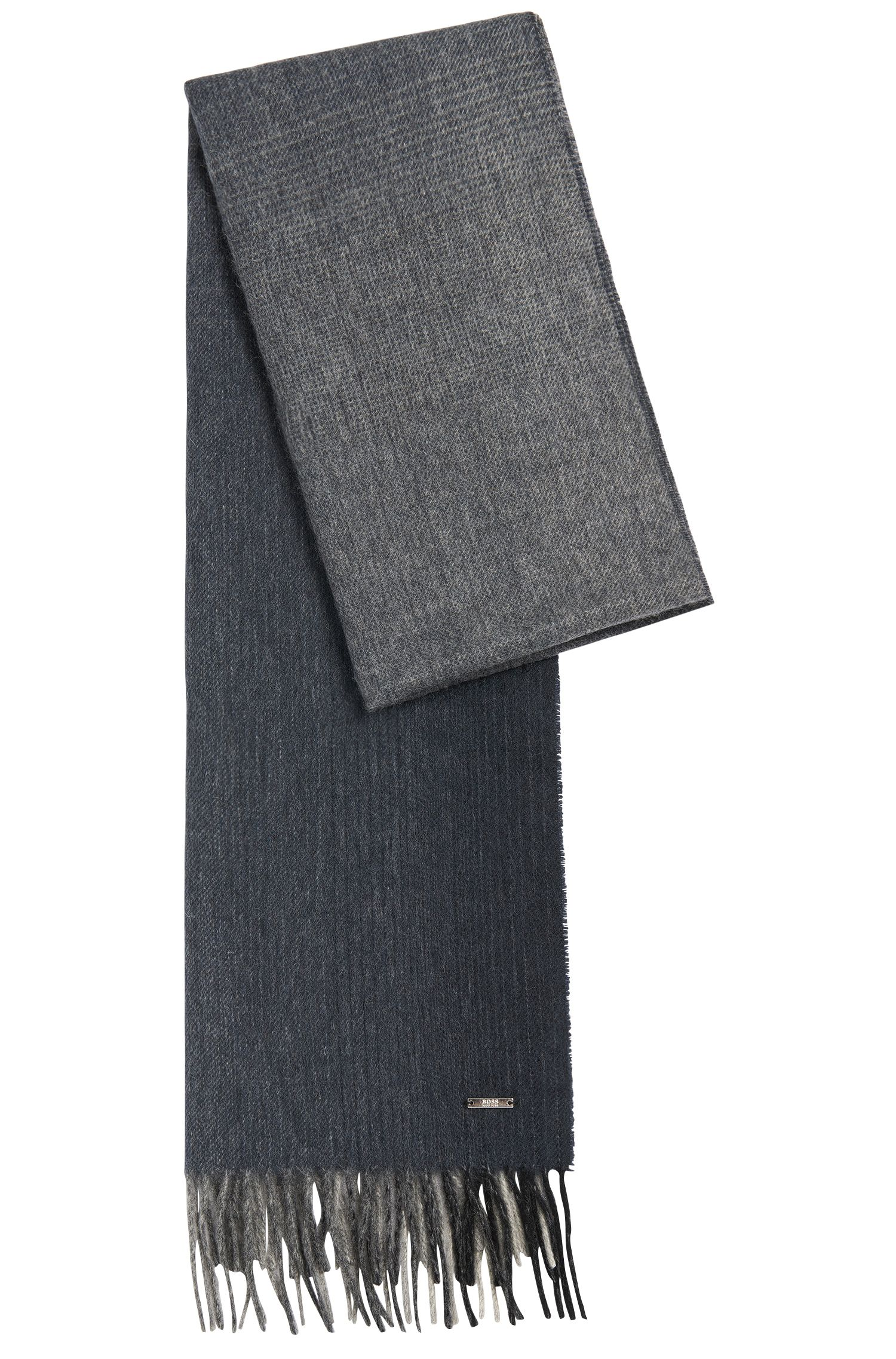 Mottled Tailored scarf in new-wool blend with cashmere: 'T-Hereno'