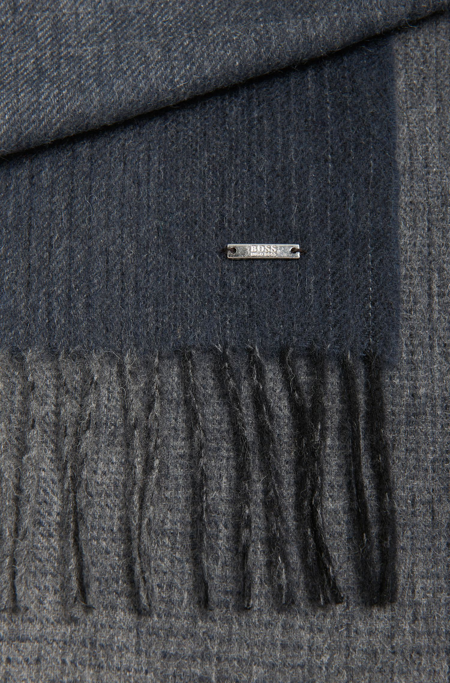 Melierter Tailored Schal aus Schurwoll-Mix mit Kaschmir: 'T-Hereno'