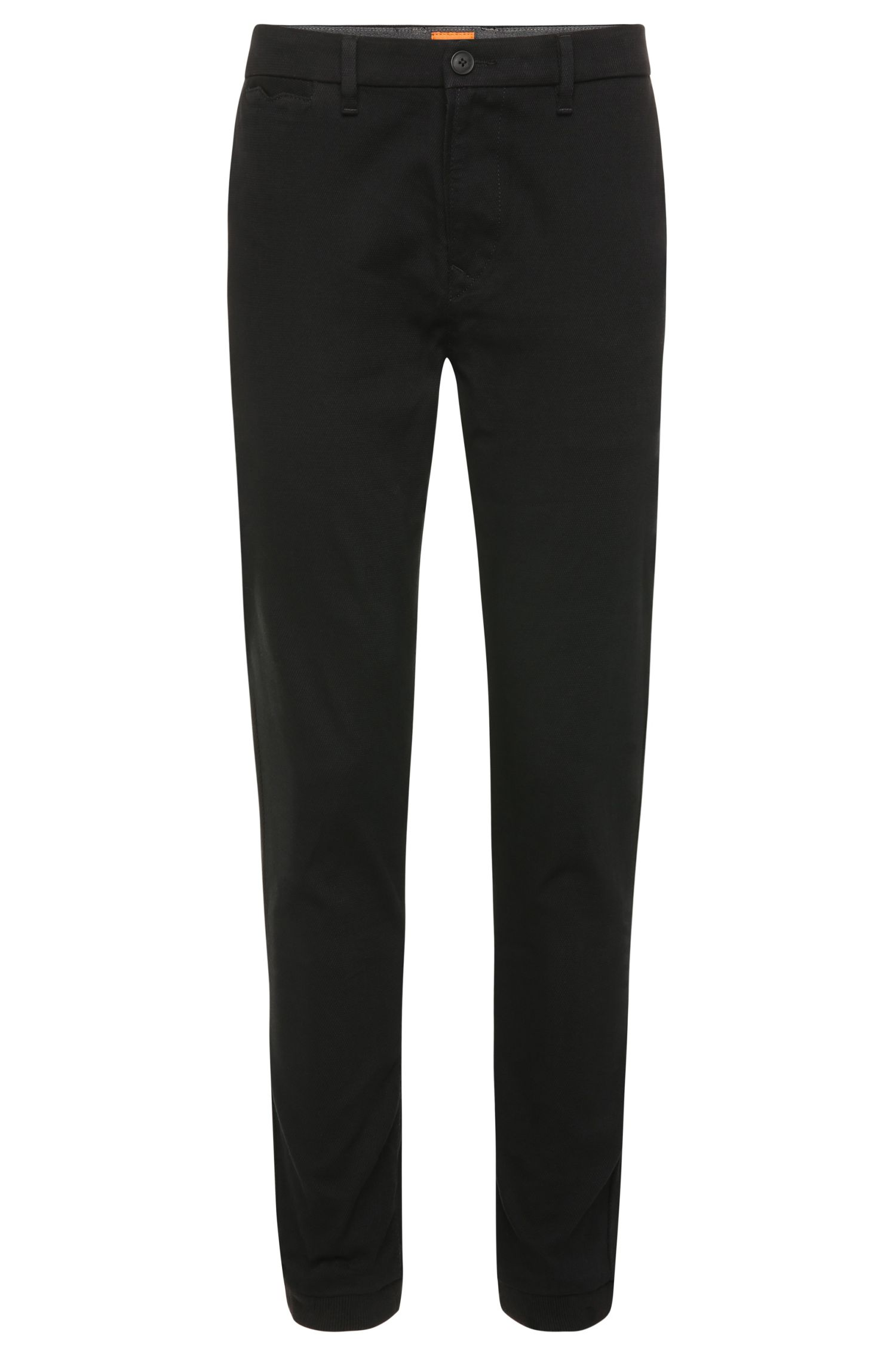 Tapered-fit chinos in stretch cotton: 'Siman1-W'